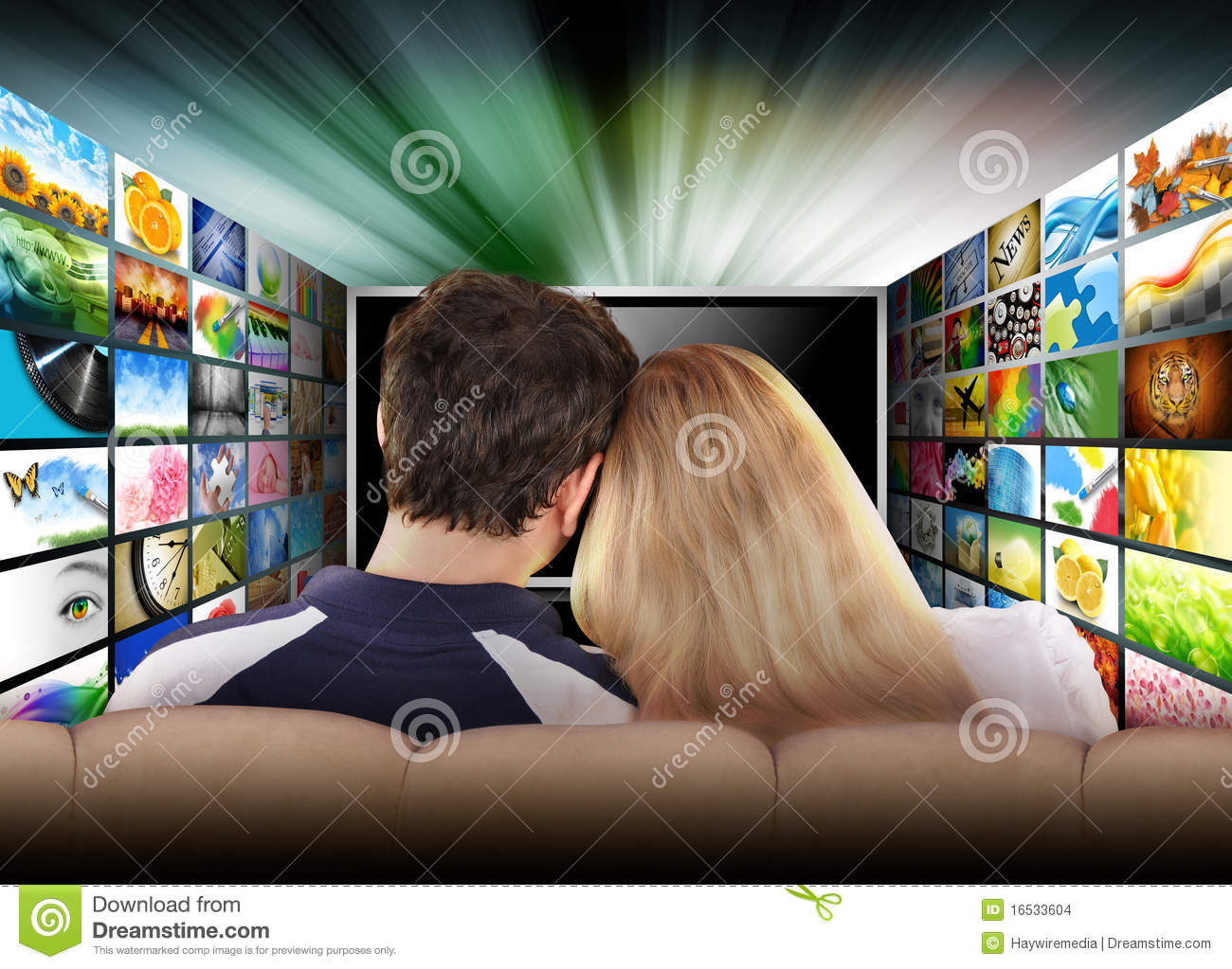 People watching television movie screen stock images for People watching