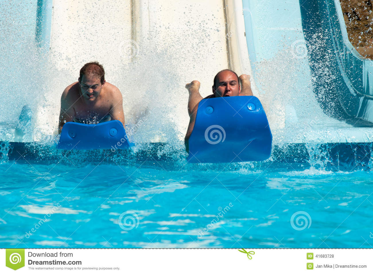 Adults in the water