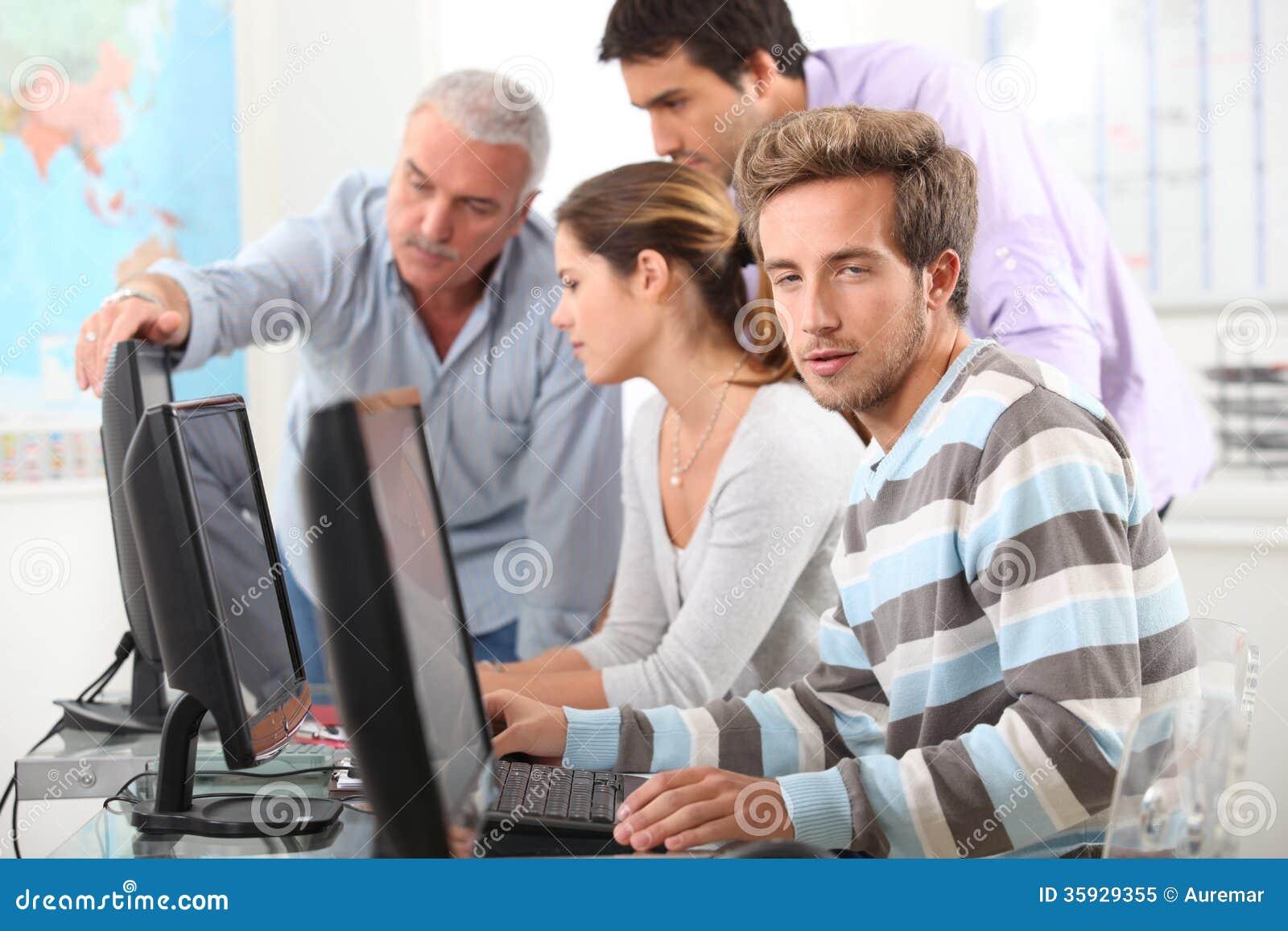 People Working On Computers Stock Image - Image: 35929355
