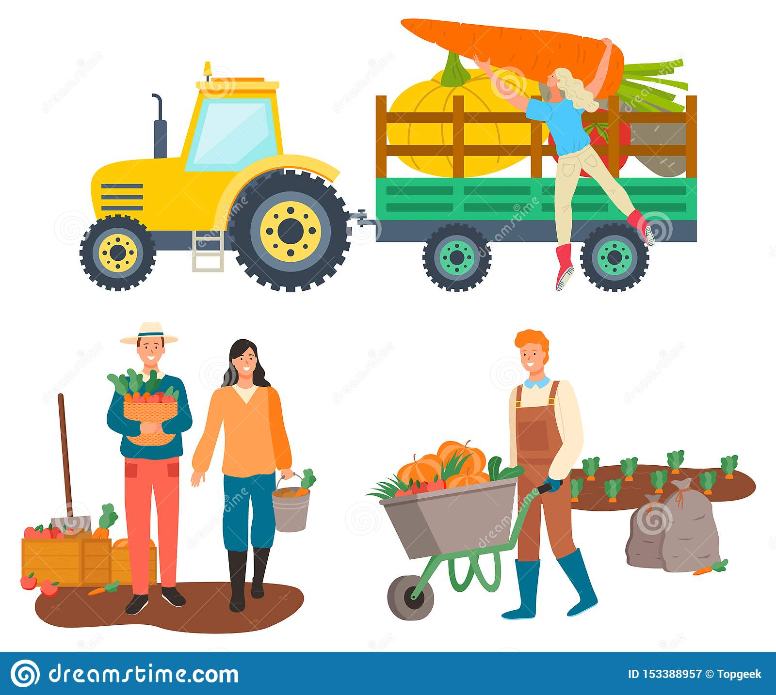 Farming People, Tractor Transportation of Goods