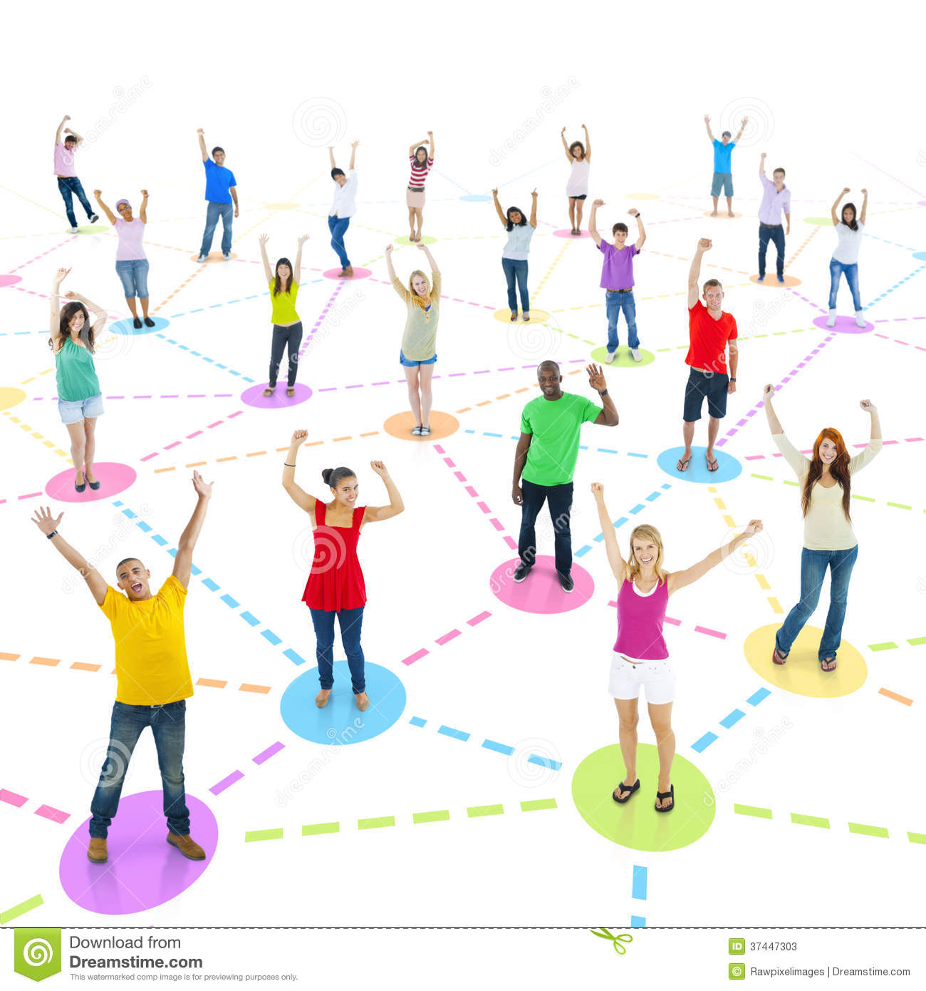 People In The World Connected Together Stock Photos