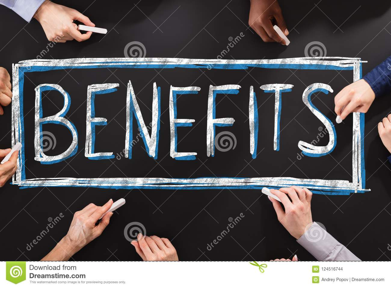 People Writing Social Security Benefits