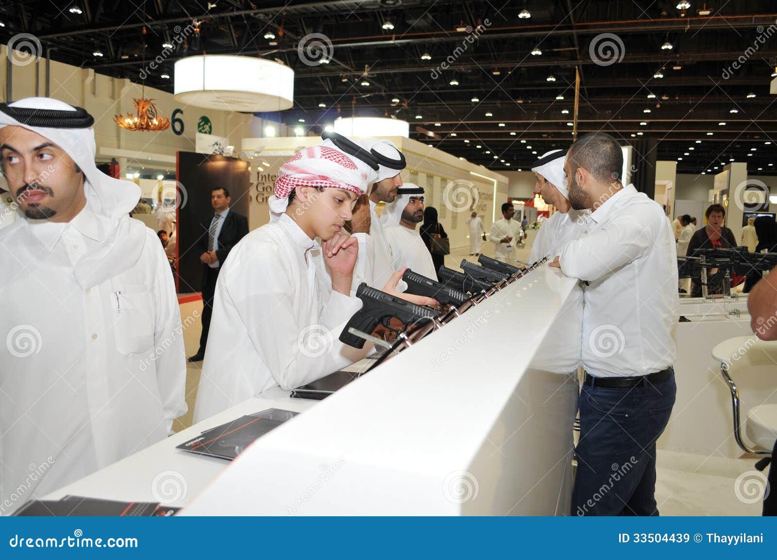 Peoples Checking Pistols At Abu Dhabi International