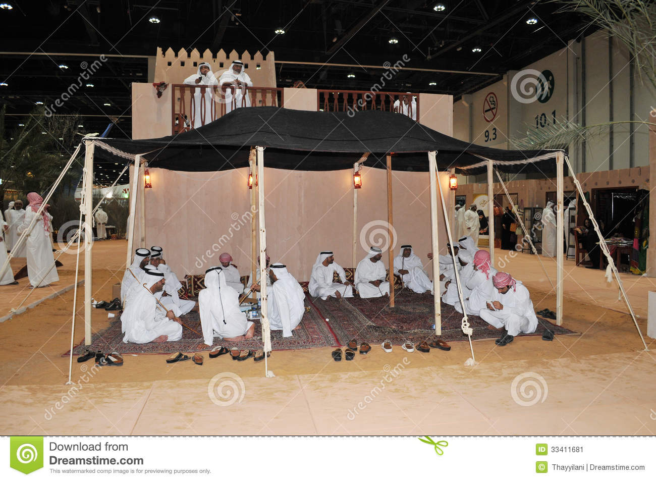 Peoples in tent at abu dhabi international hunting and for Hispano international decor abu dhabi