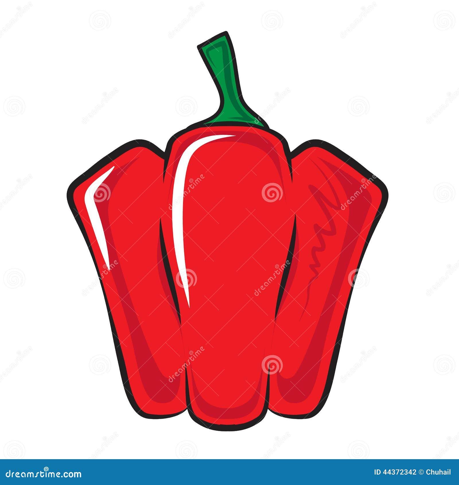 Pepe rosso della paprica isolato su bianco