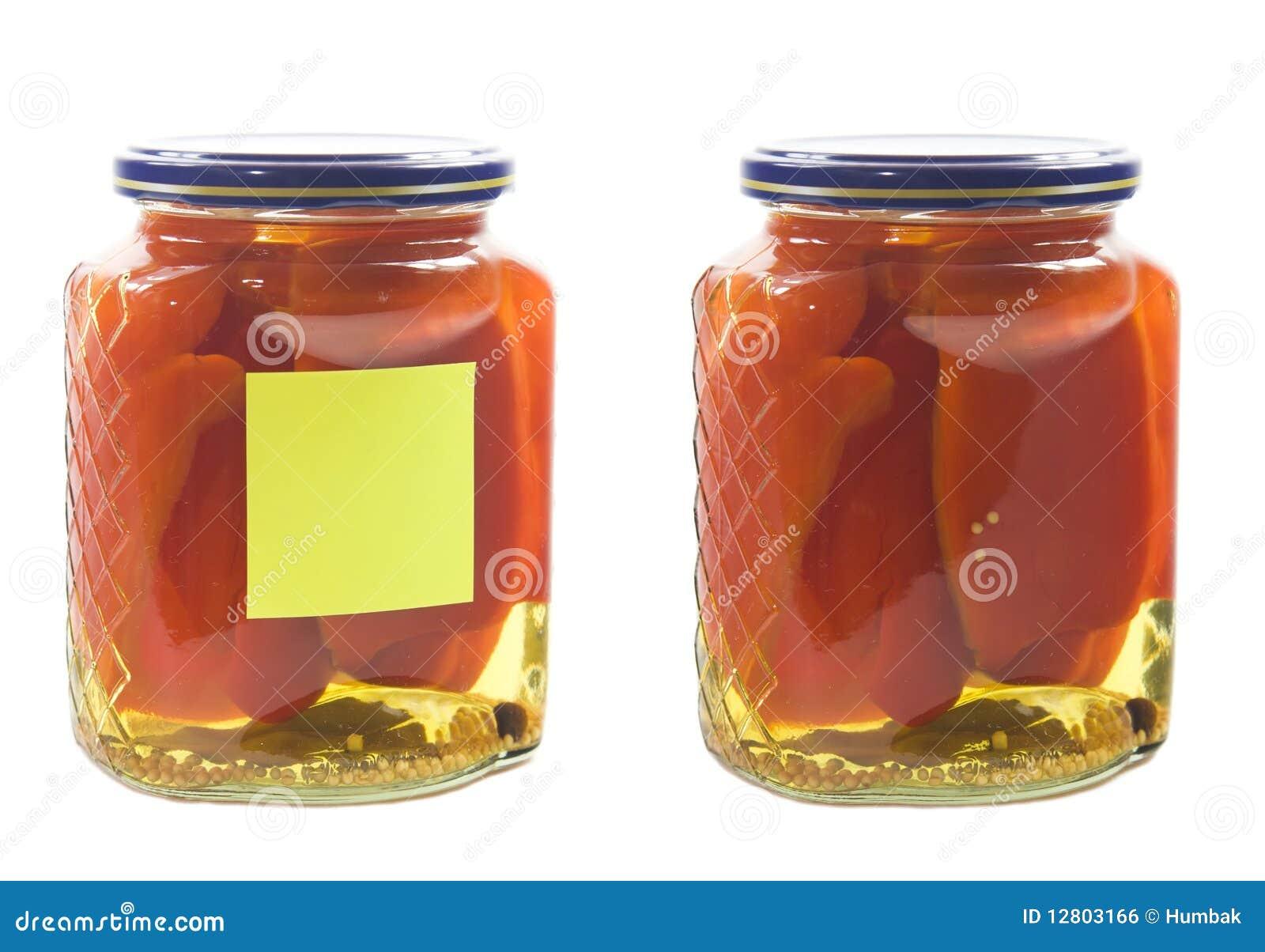 Peper conservado no frasco