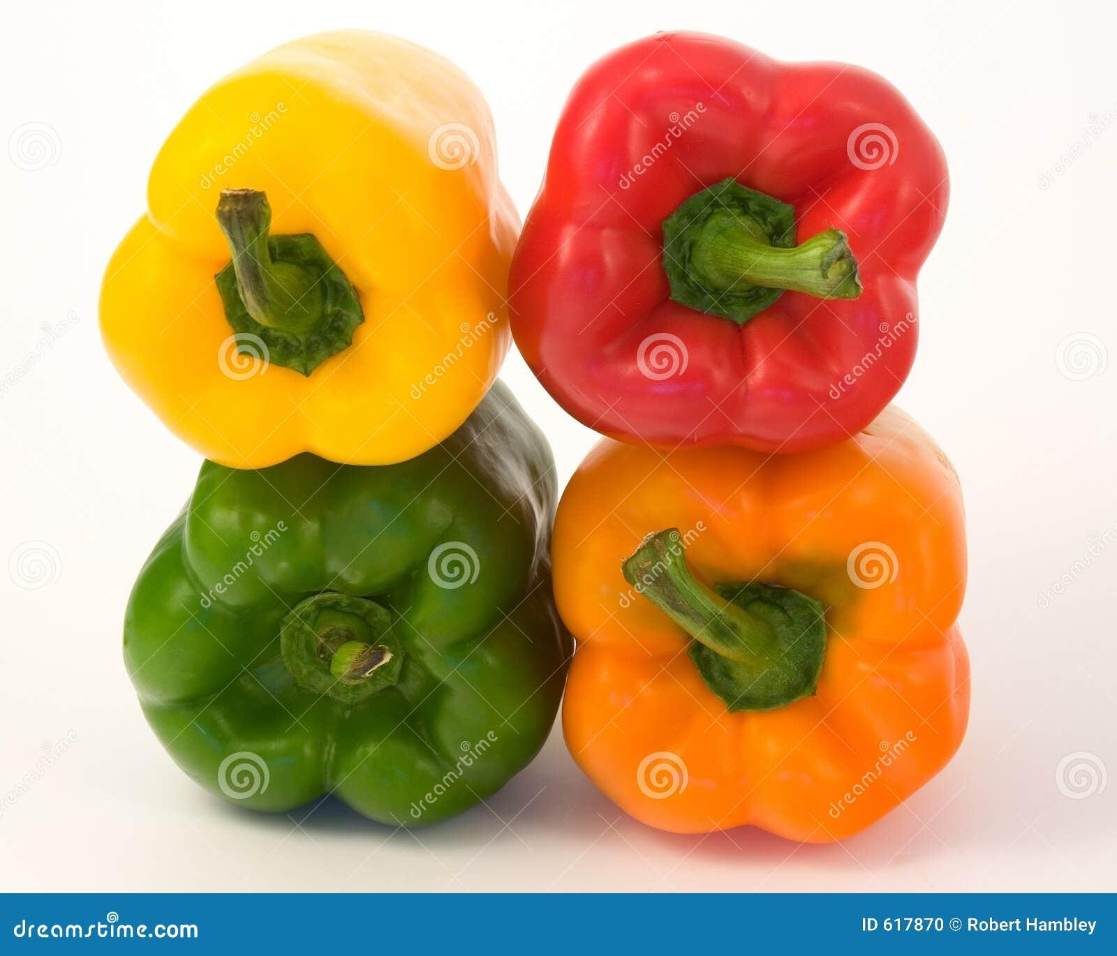 Peper, Groen Rood, Geel, Oranje,