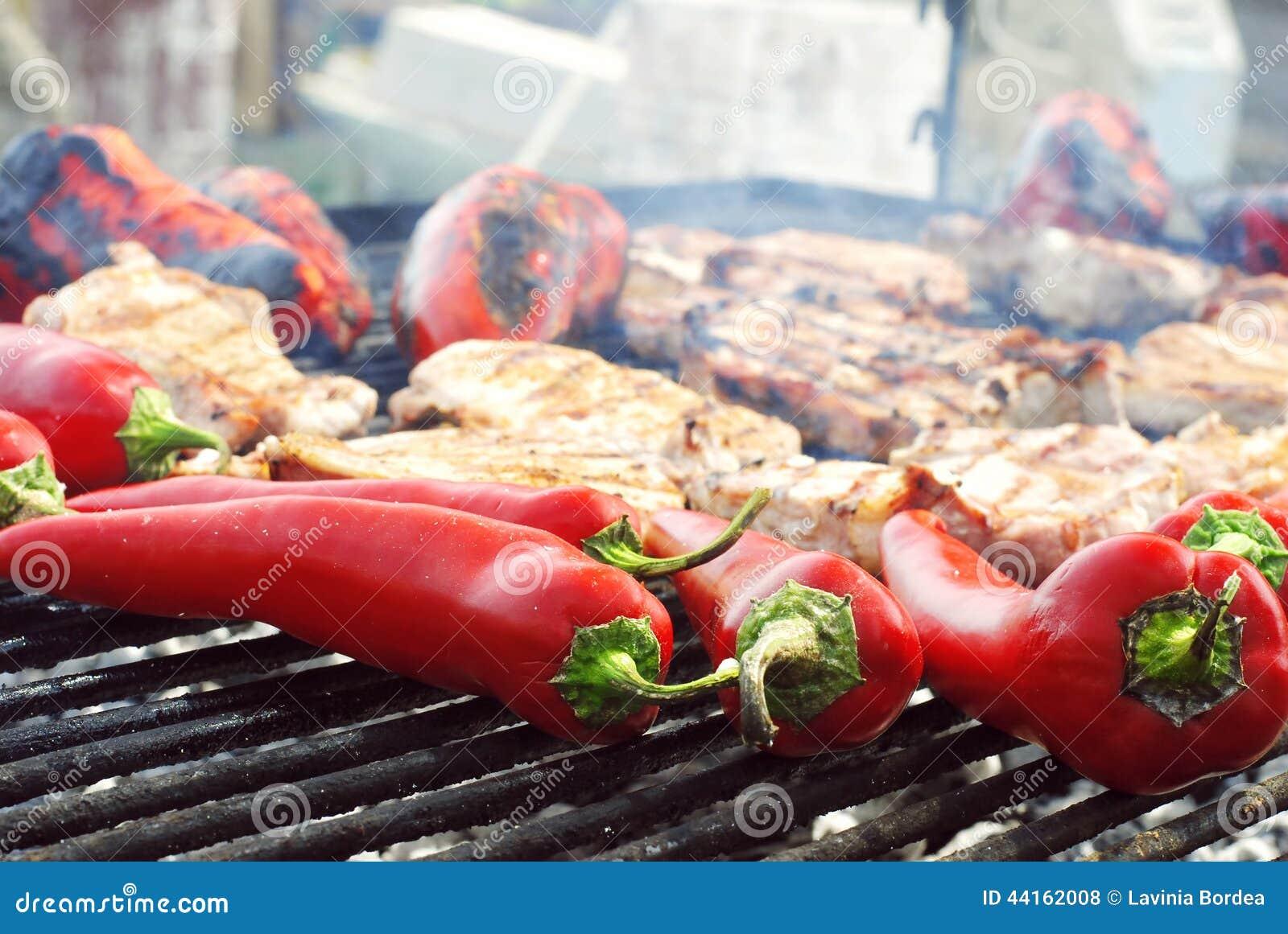 Peper op de grill