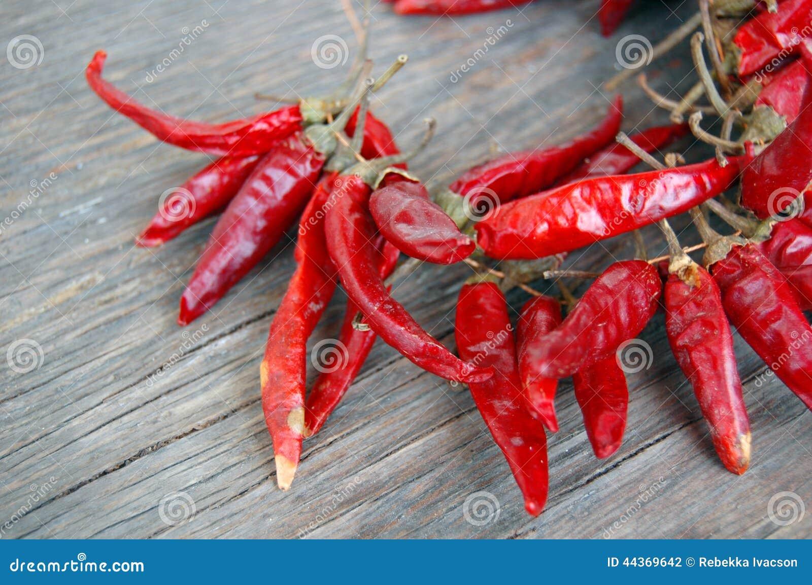 Peperoni di peperoncini rossi roventi
