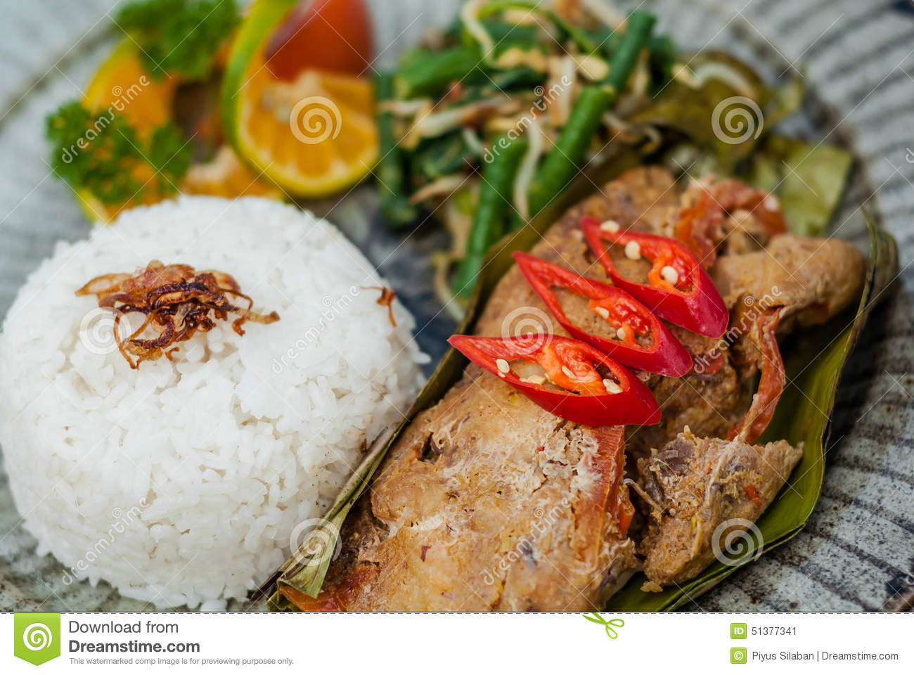 Pepes traditional indonesian food stock image image of for Authentic indonesian cuisine