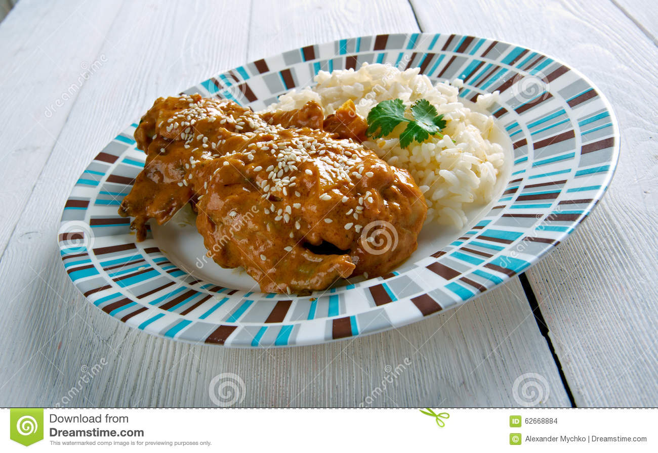Pepian Sauce For Stewed Chicken Stock Photo - Image of ...