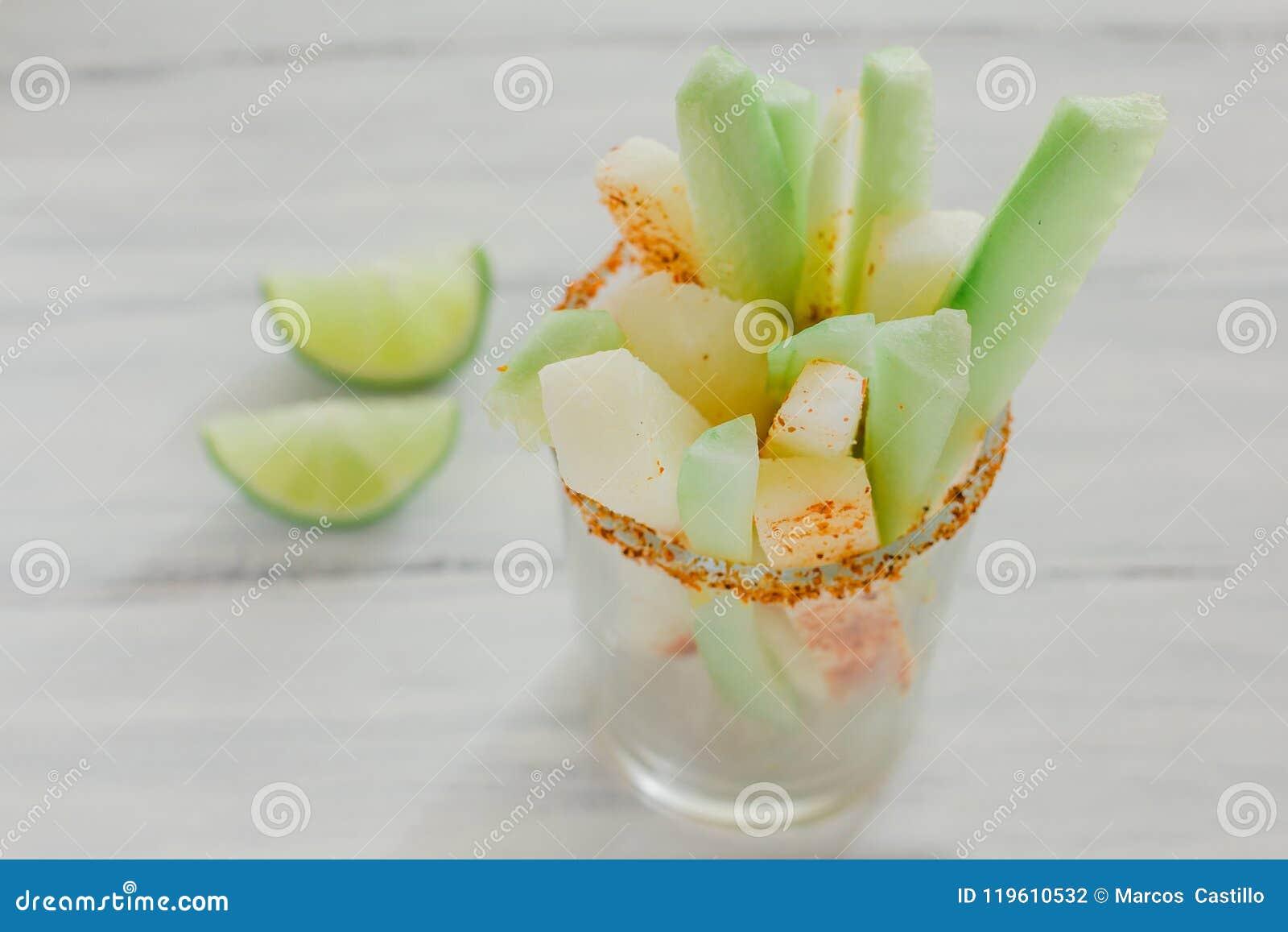 Pepinos And Jicama Con Chile, Cucumber And Jicamas With Chili ...
