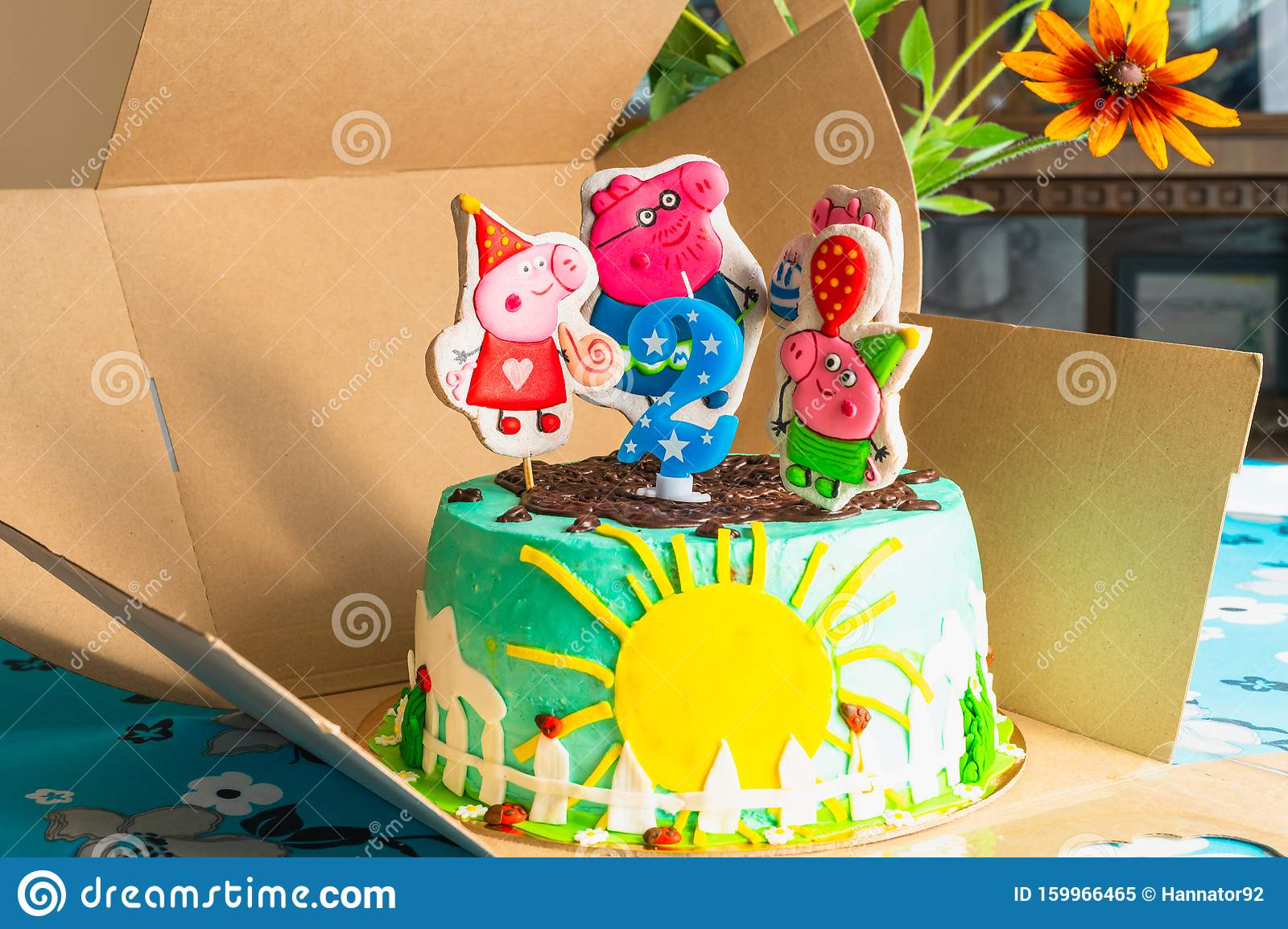 Incredible Peppa Pig Birthday Cake Happy 2 Years Birthday Cake Close Up Personalised Birthday Cards Paralily Jamesorg
