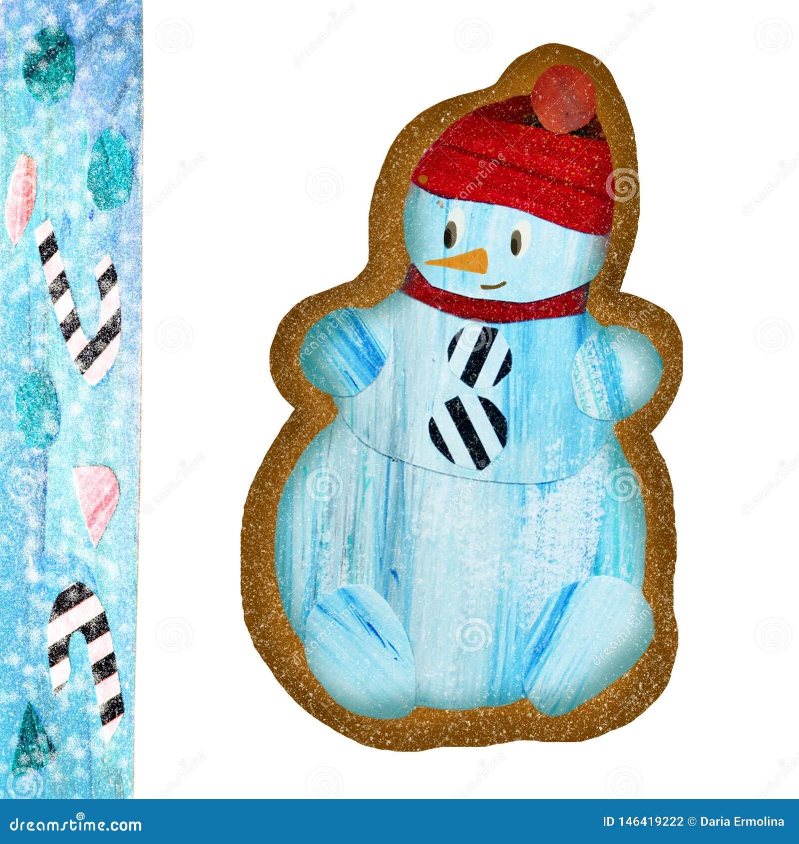 Pepparkaka med snögubben