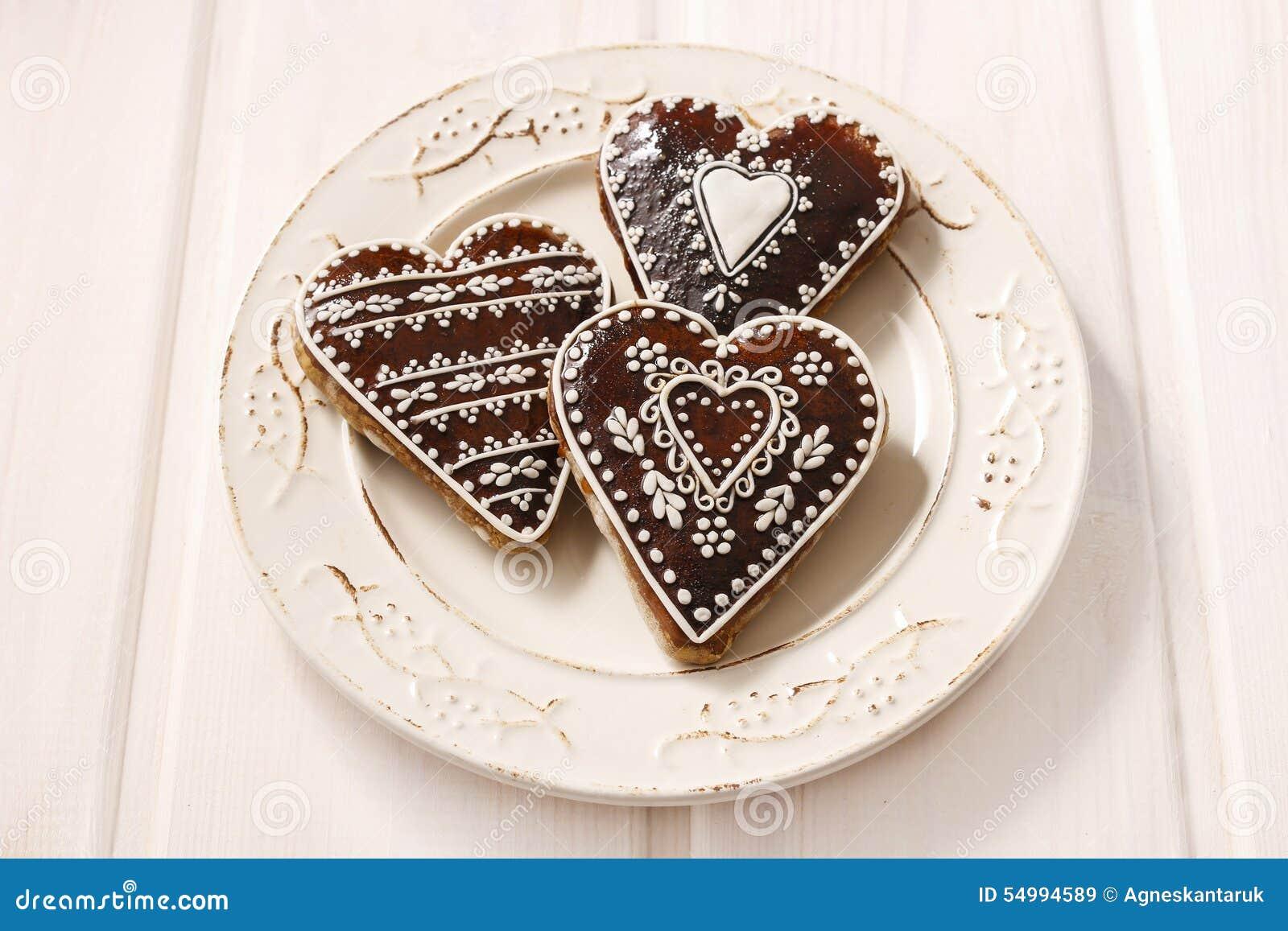 Pepparkakakakor i hjärtaform