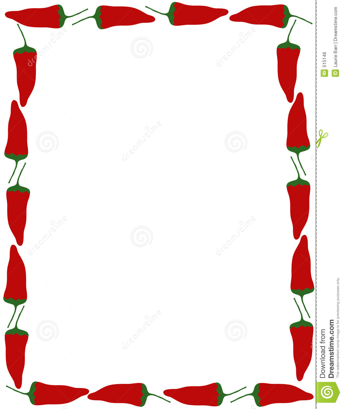 Pepper Border Royalty Free Stock Image - Image: 515146