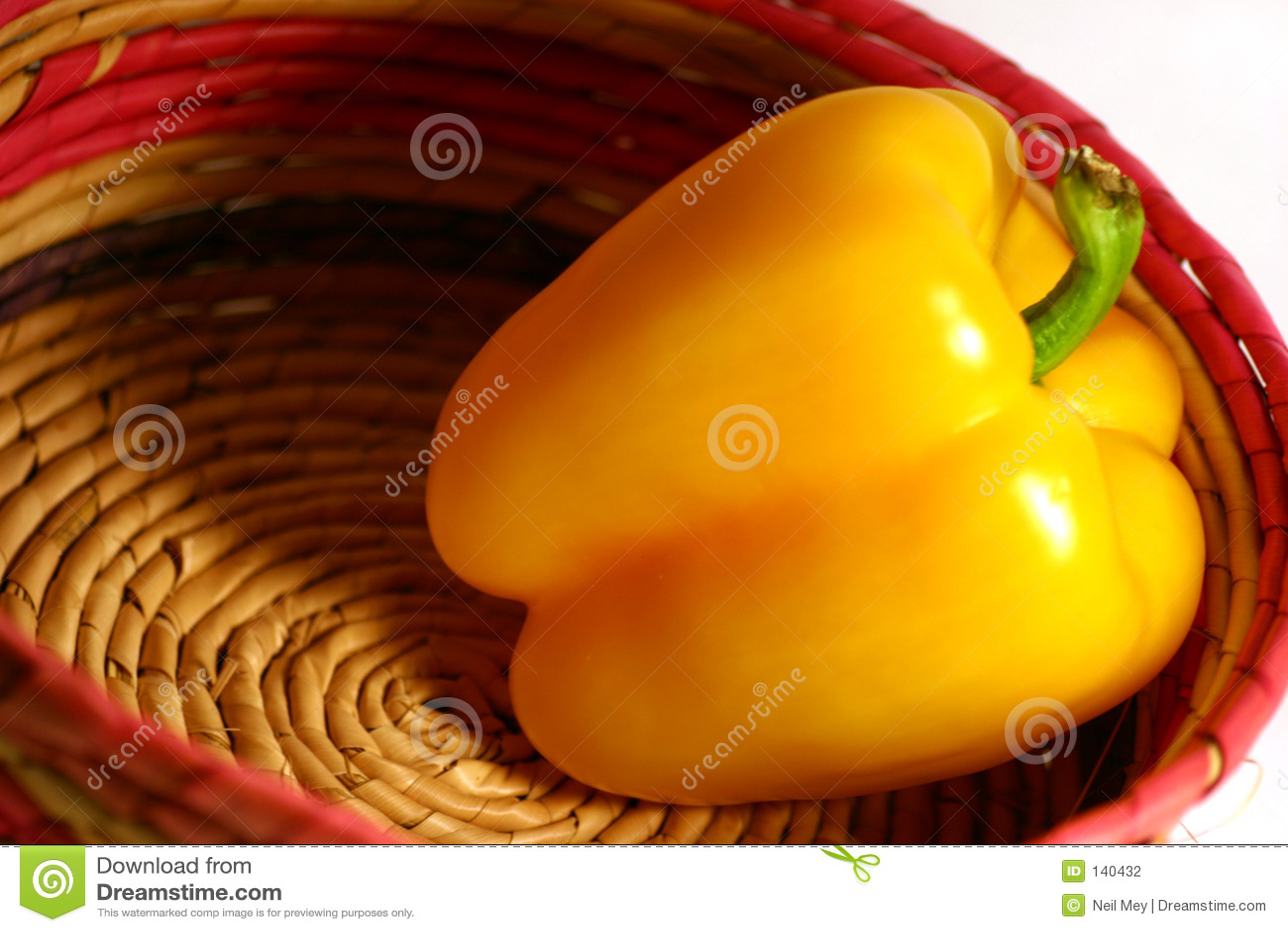 Pepper kosza na żółty