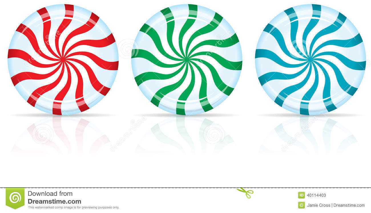 Peppermint Candy Stock Vector - Image: 40114403