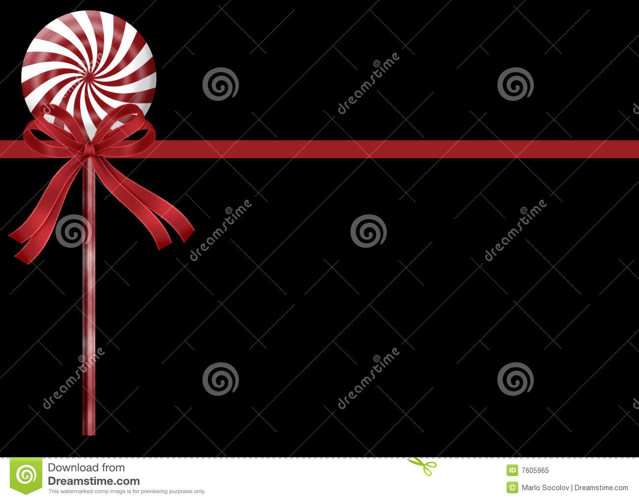 Peppermint Candy Stick Background