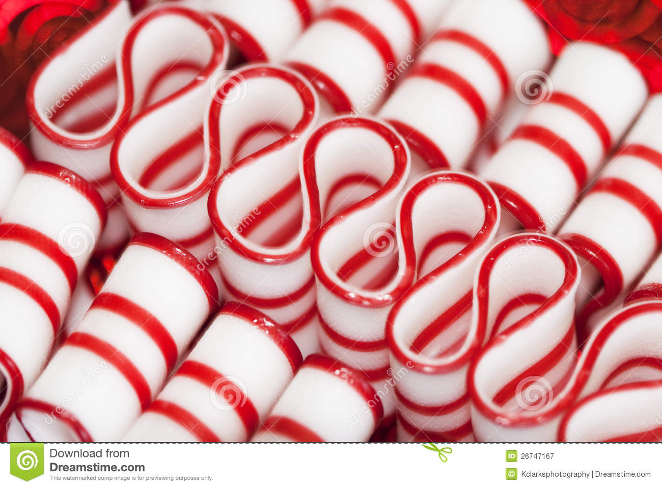 Peppermint Ribbon Christmas Candy Stock Image Image Of