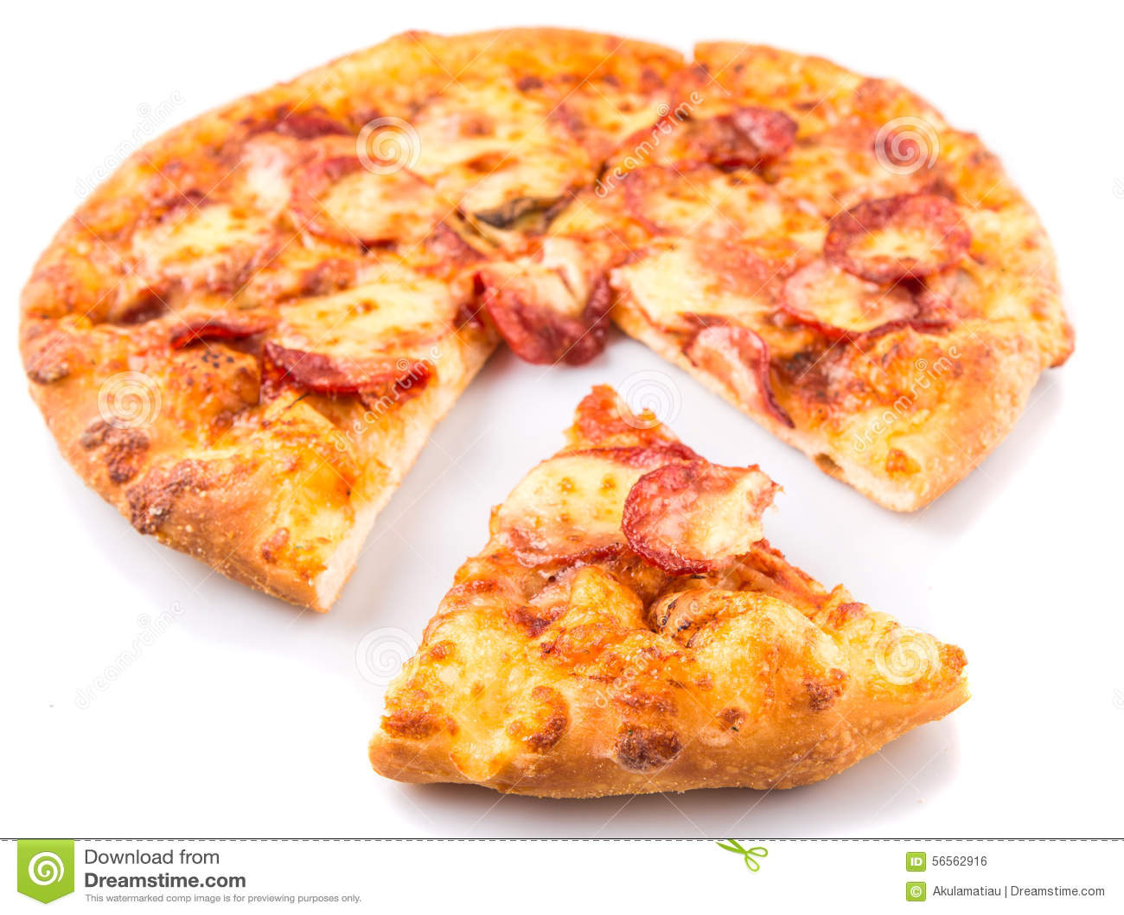 Download Pepperoni και πίτσα VI τυριών Στοκ Εικόνες - εικόνα από επίπεδος, ζύμη: 56562916