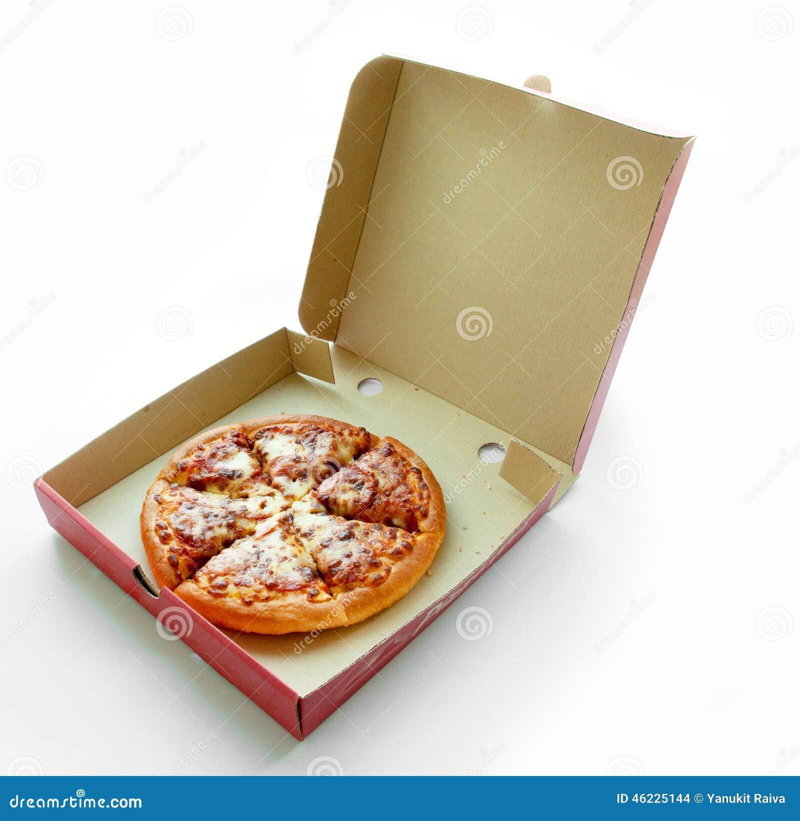 Pepperoni πίτσα στο κιβώτιο