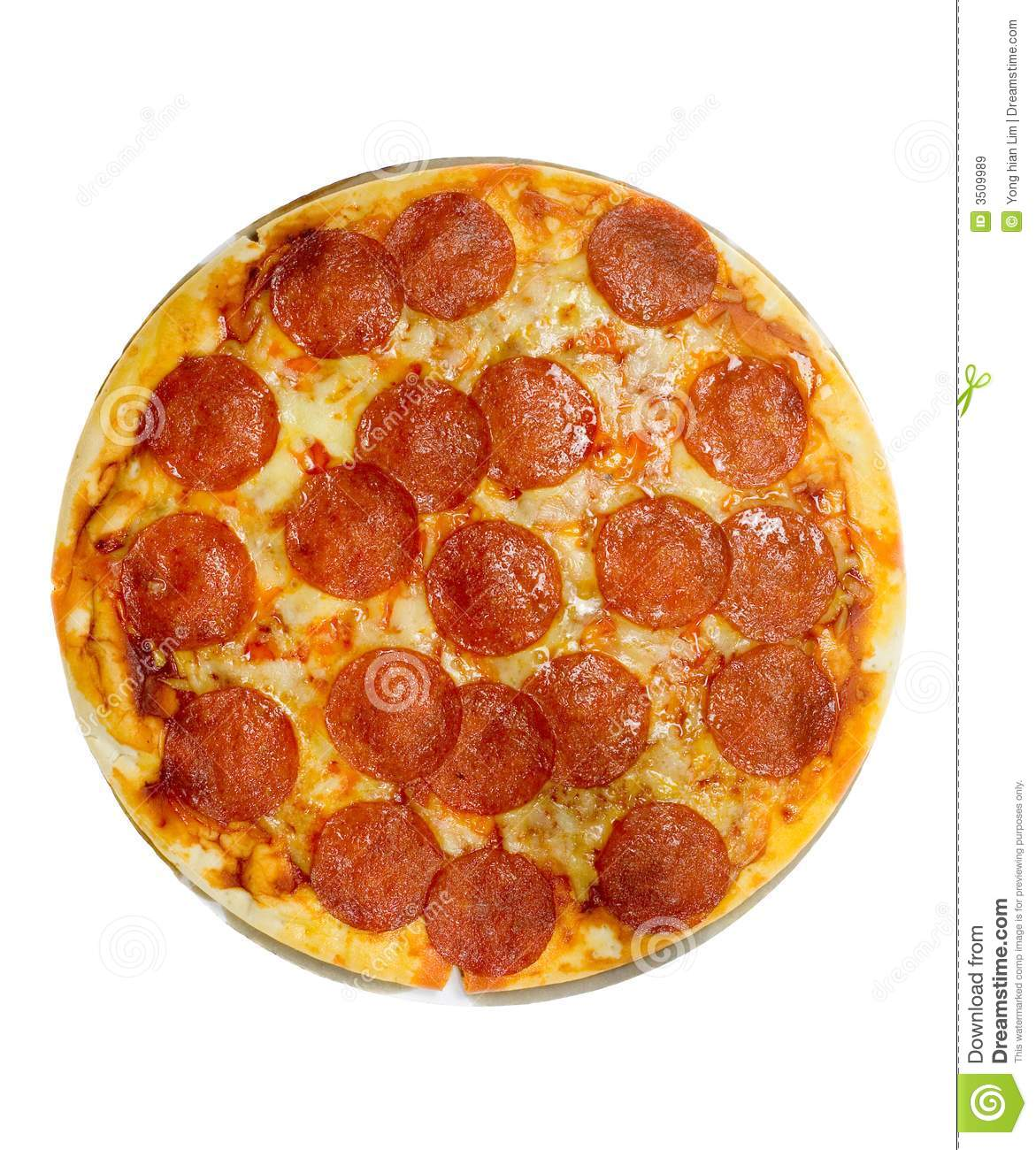 Pepperoni And Cheese Pizza Stock Image. Image Of Toppings