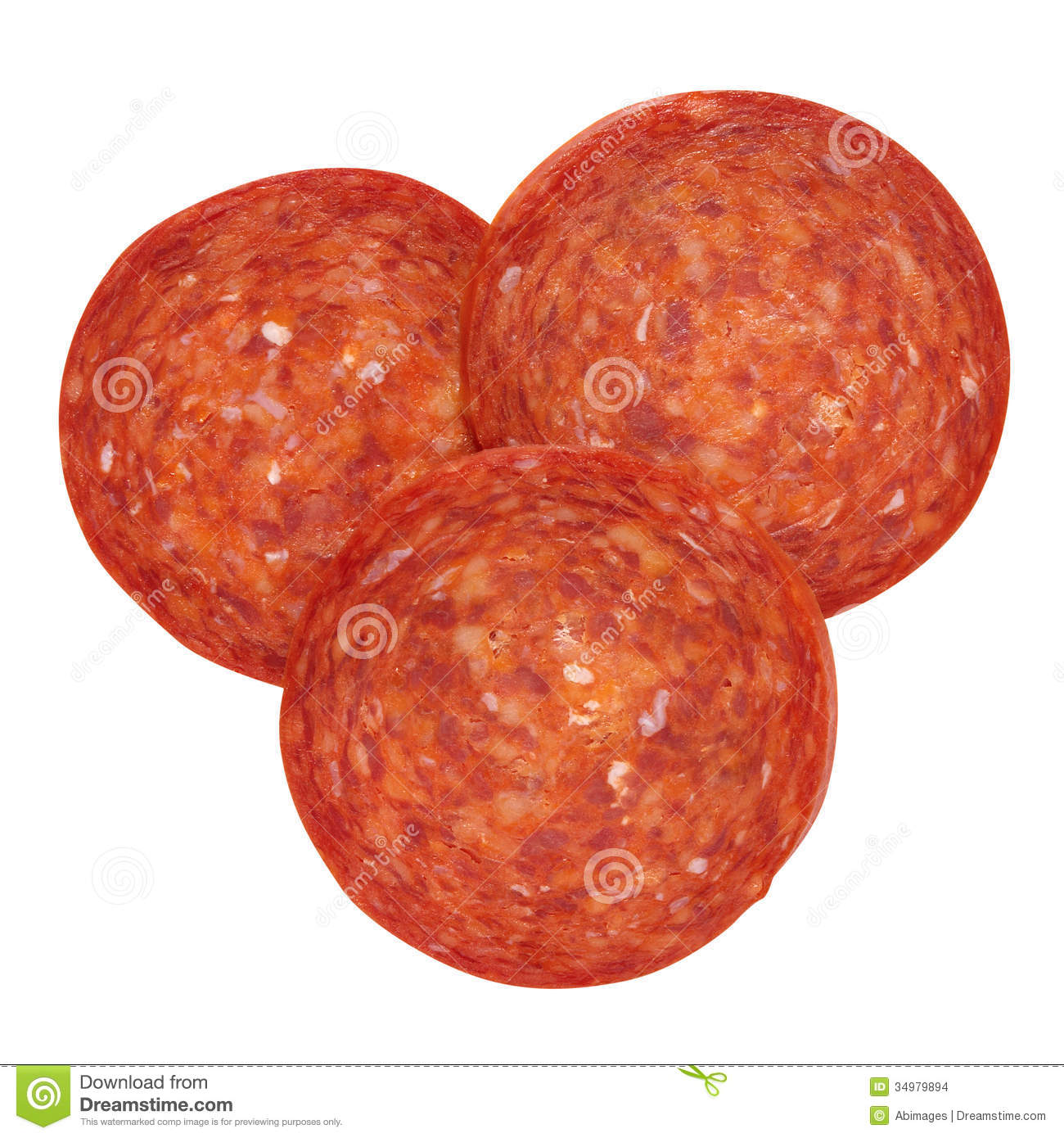 Single Pepperoni Pepperoni pieces stock images