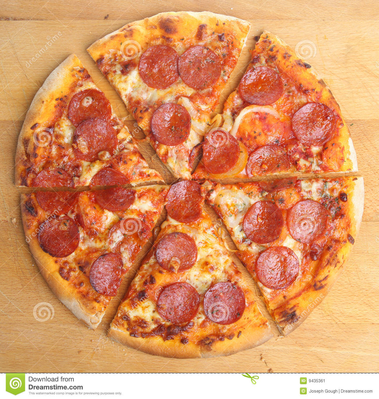 Pepperoni Pizza Slices Stock Image - Image: 9435361