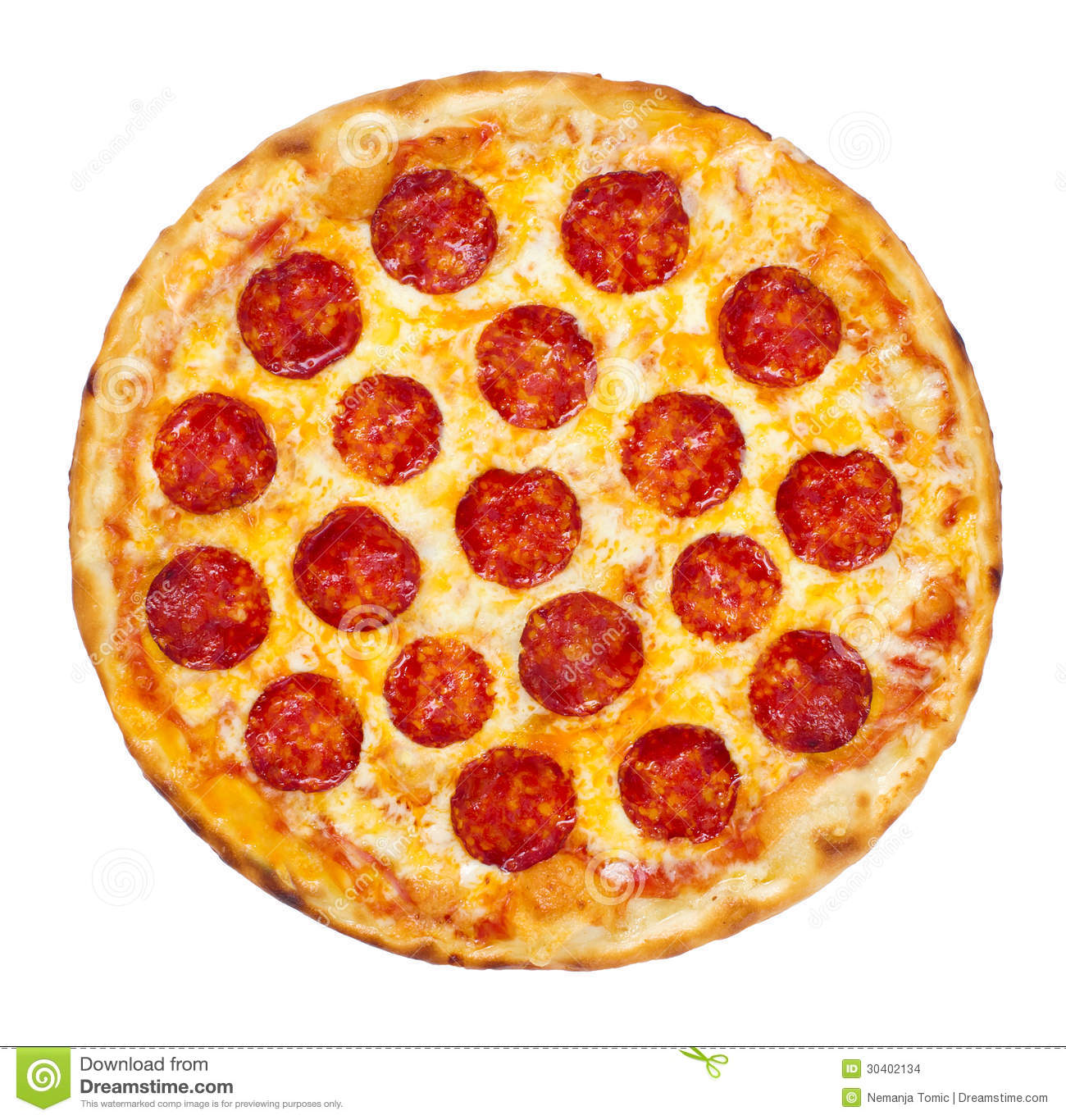 Pepperoni Pizza Stock Images Image 30402134