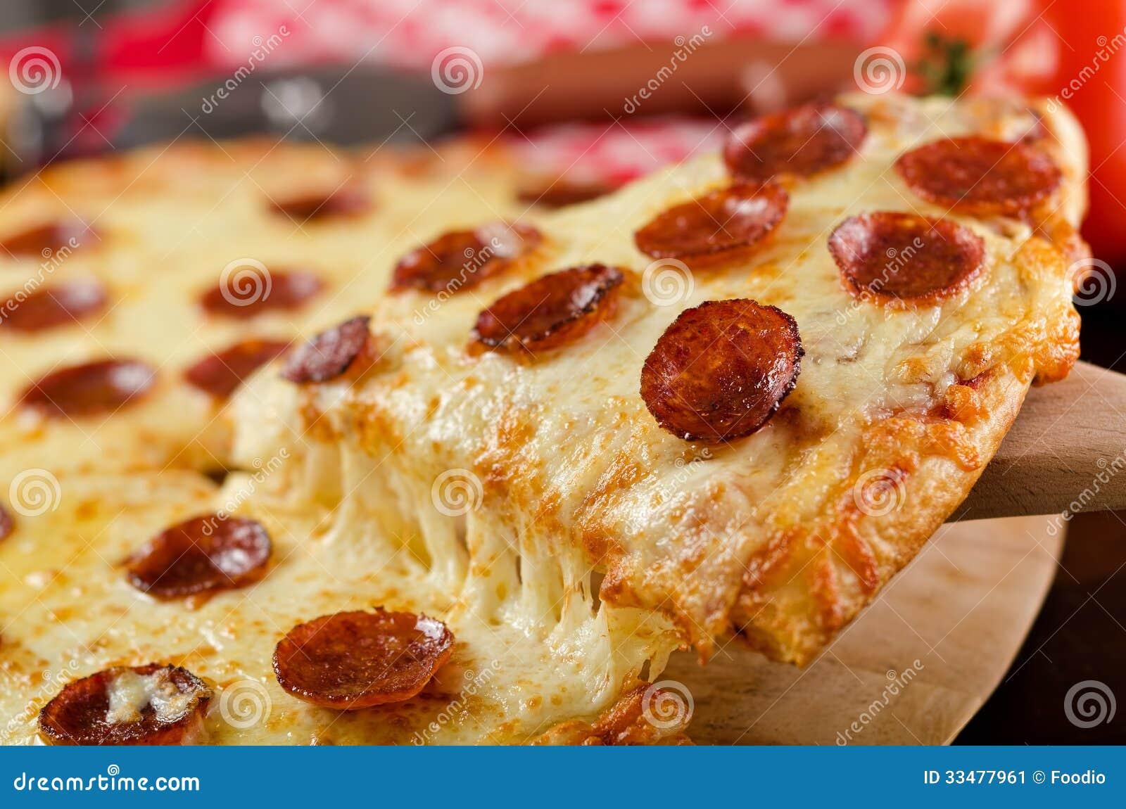 Pepperoni pizzy plasterek