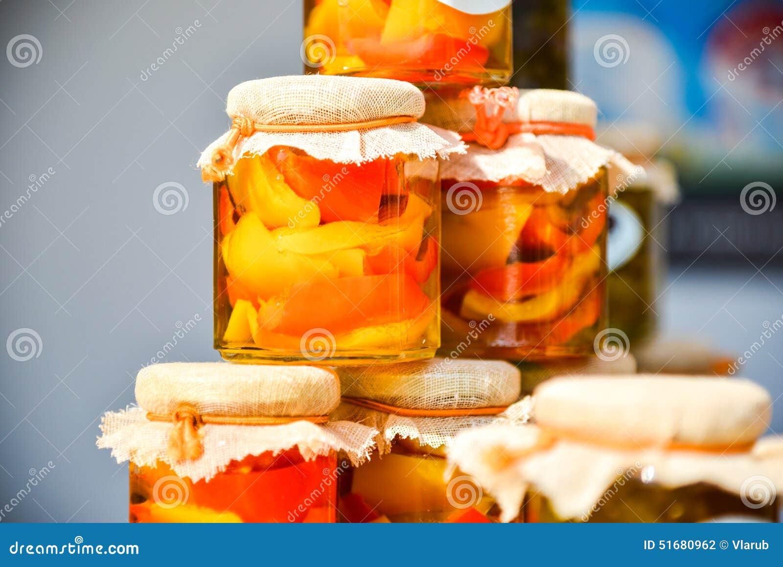 Peppers in jars