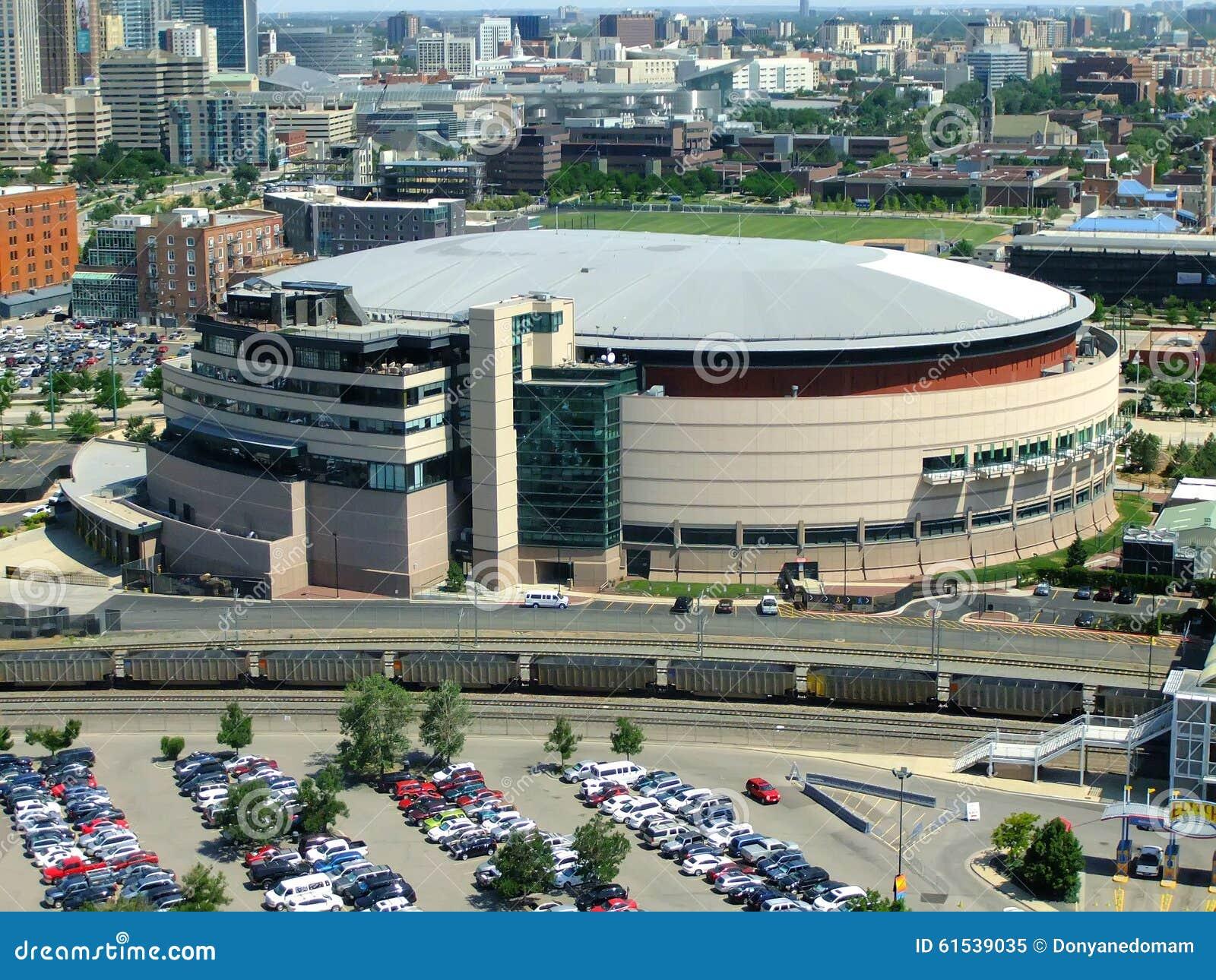 Pepsi center arena in denver colorado royalty free stock photo