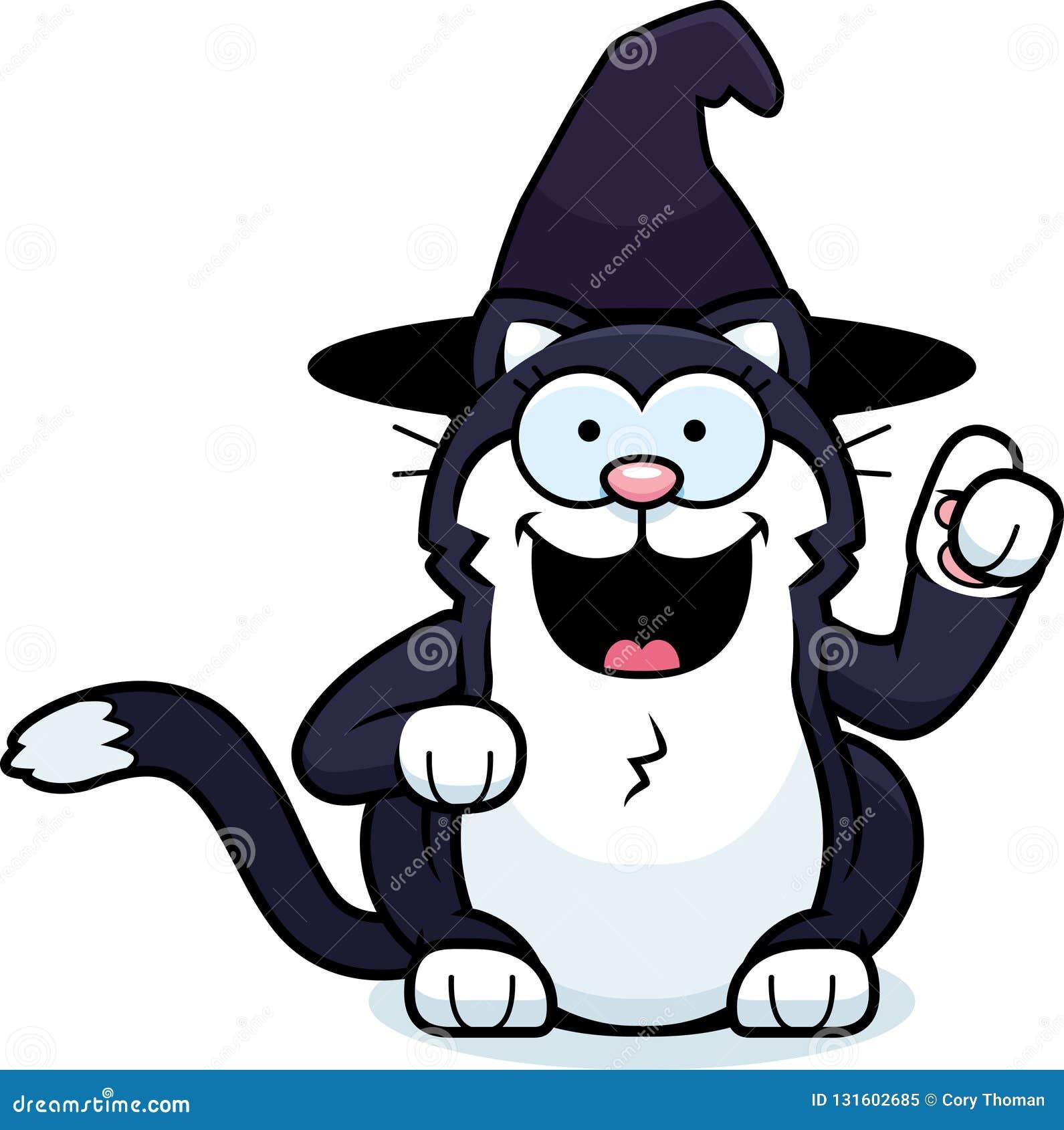 Pequeña bruja Cat Idea de la historieta