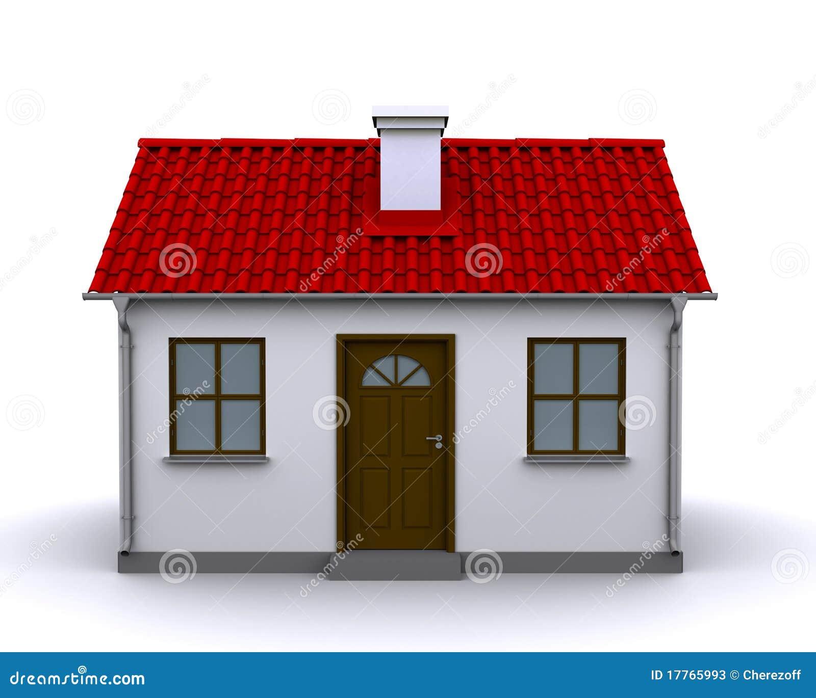 Pequeña casa, vista delantera