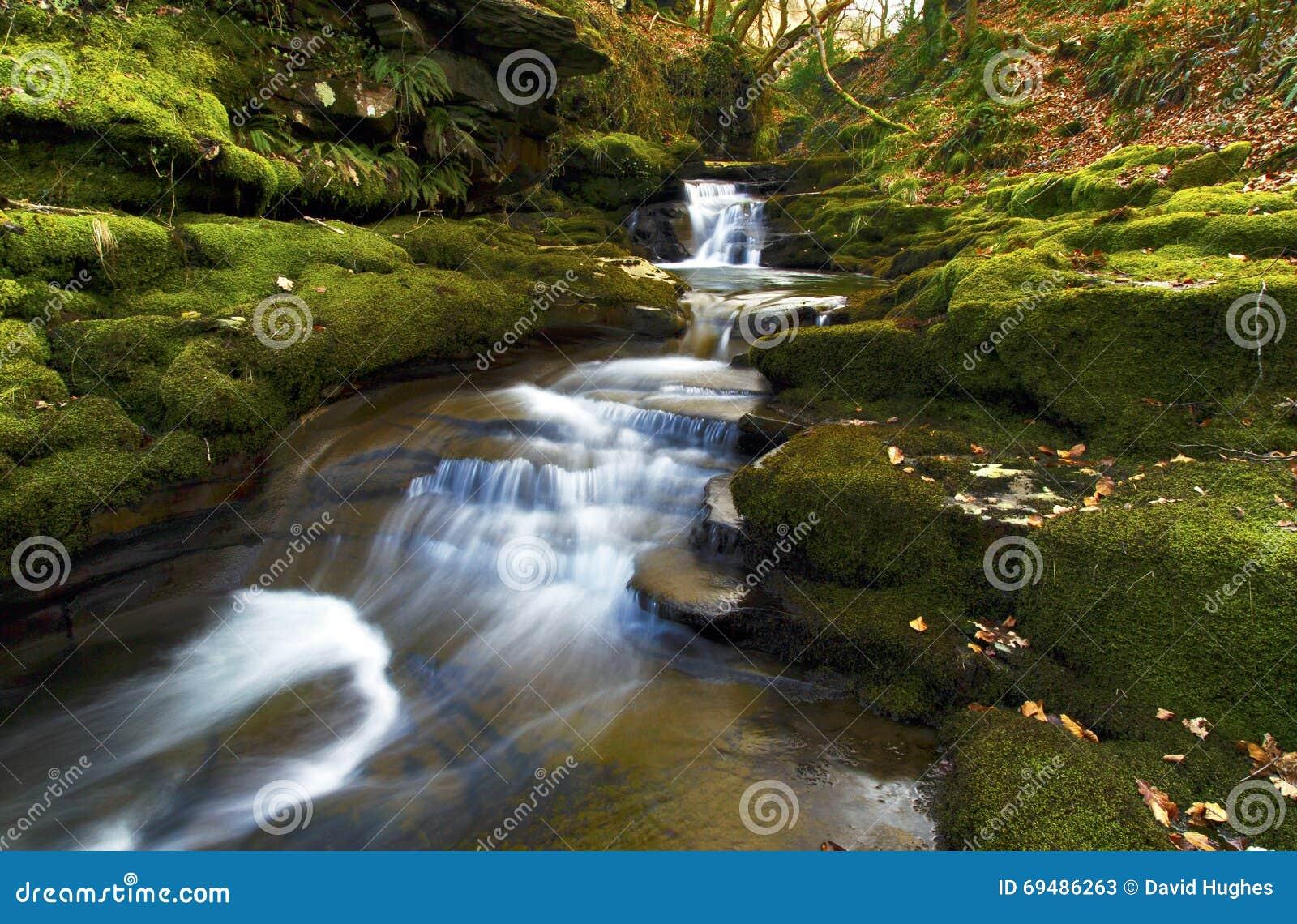 Pequeña cascada, Creunant apenas debajo de Pwll y Alun