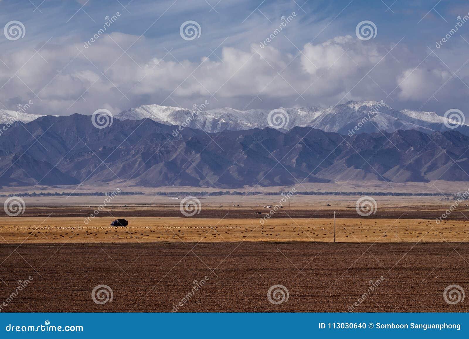 Pequeña ciudad en la provincia de Gansu, en el lado occidental de China