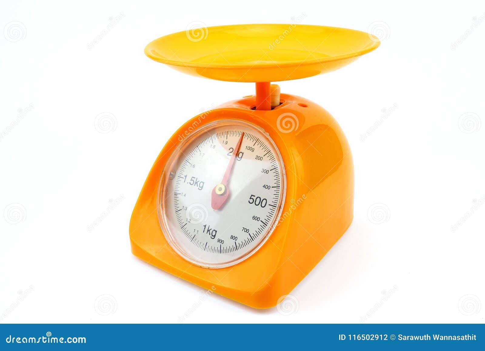 Pequeña escala amarilla del peso