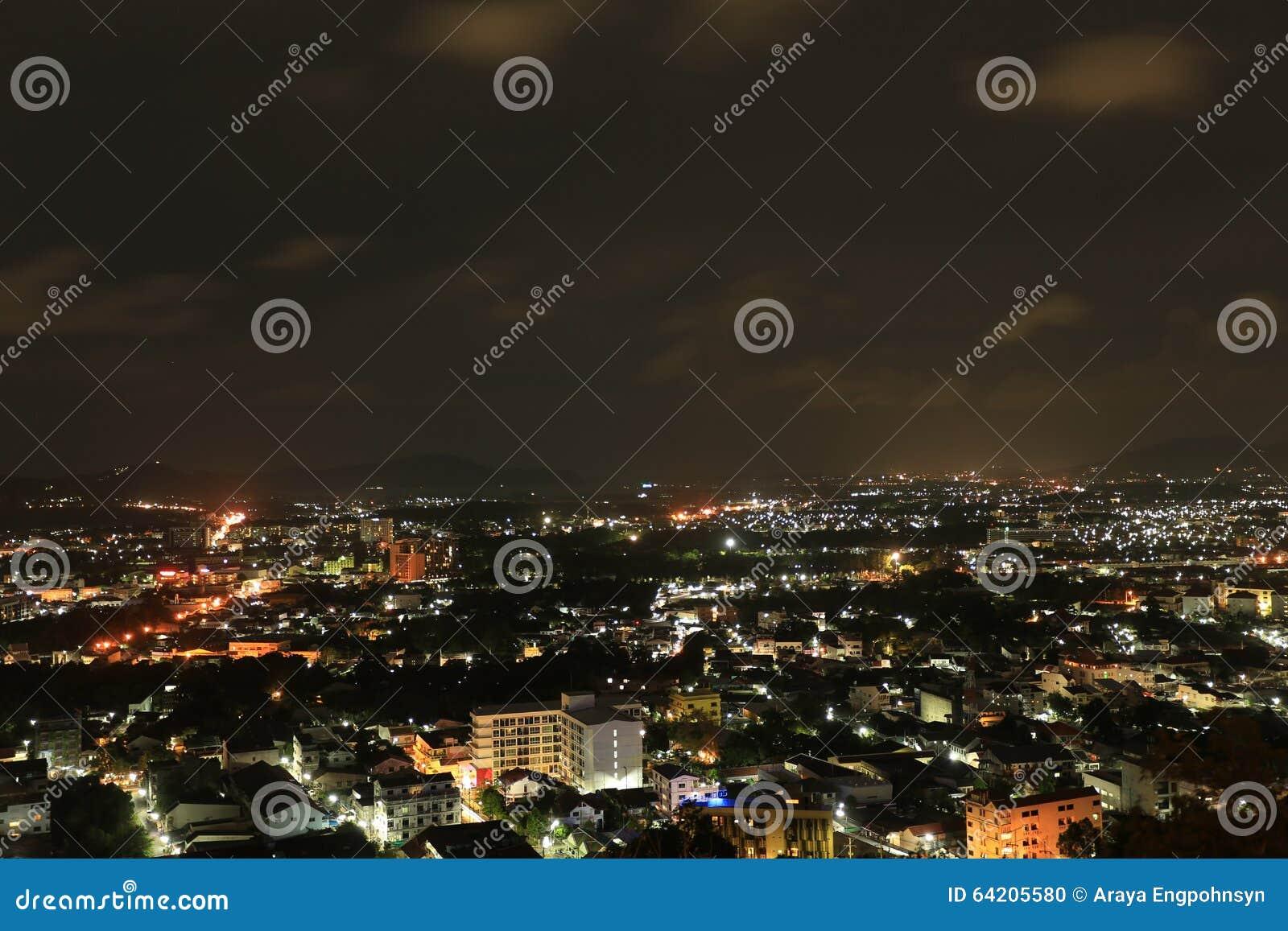 Pequeña escena de la noche de la ciudad