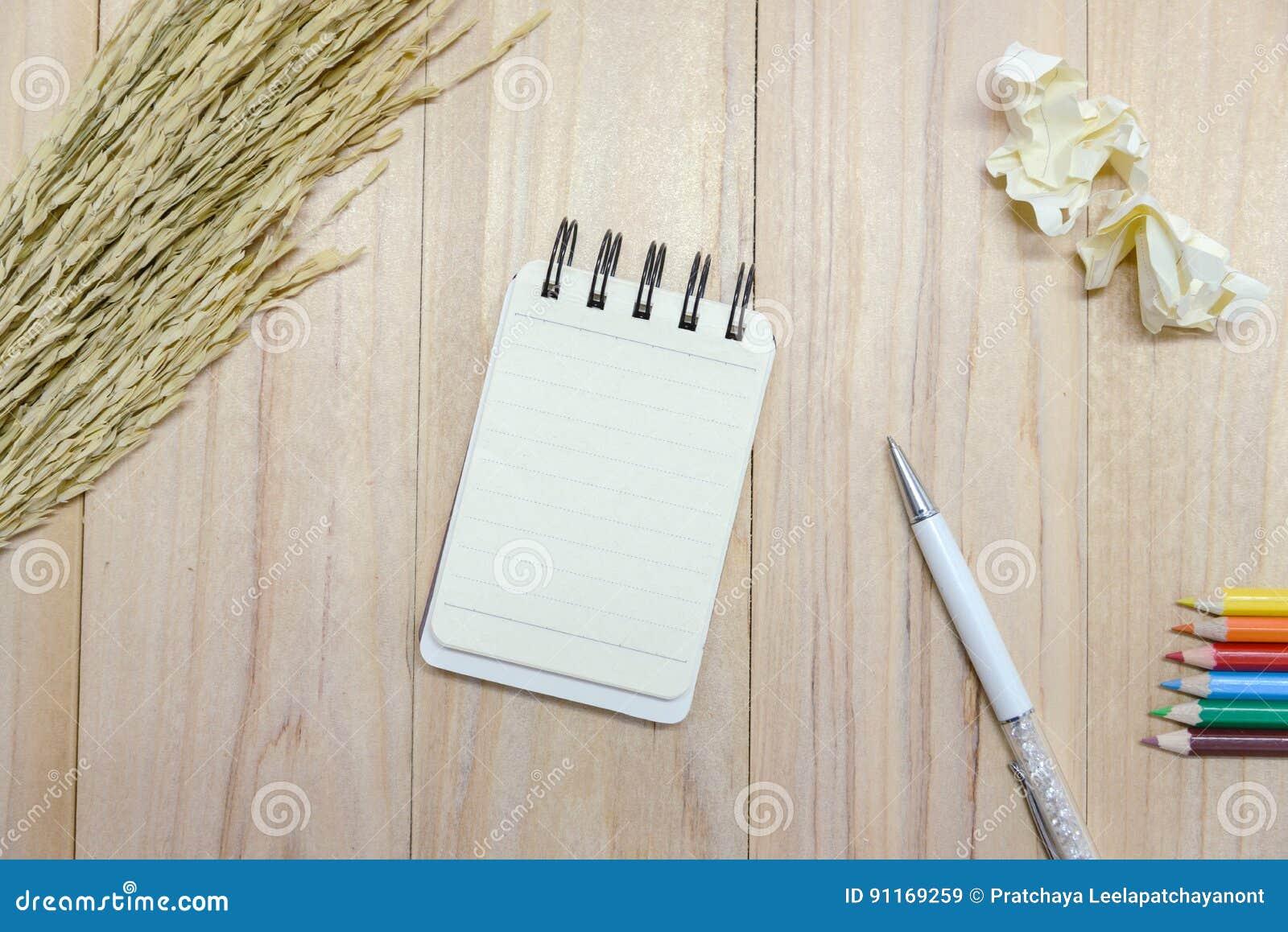 Pequeña Libreta Del Papel De Cuaderno Para Escribir La Información