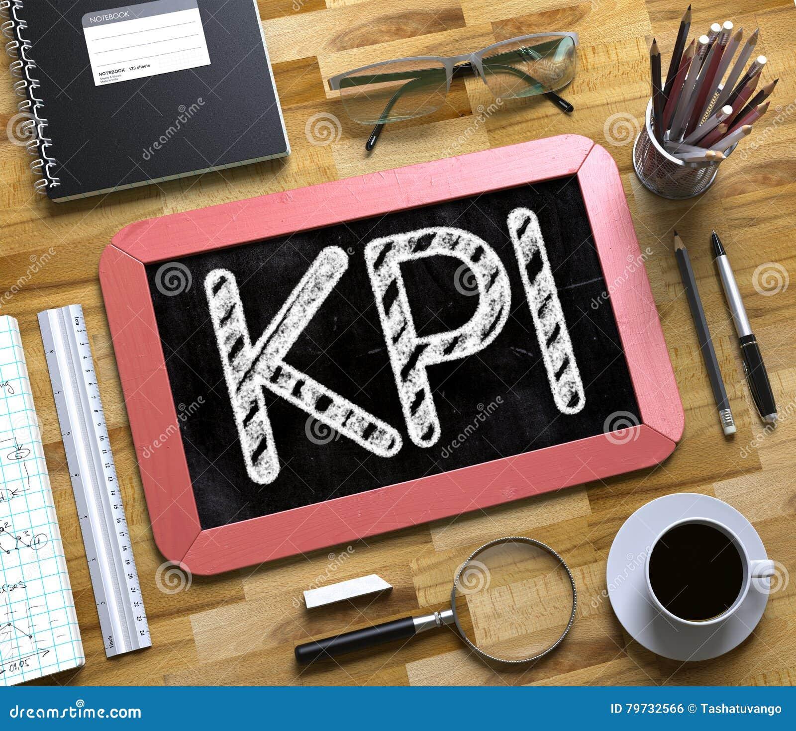 Pequeña pizarra con KPI 3d