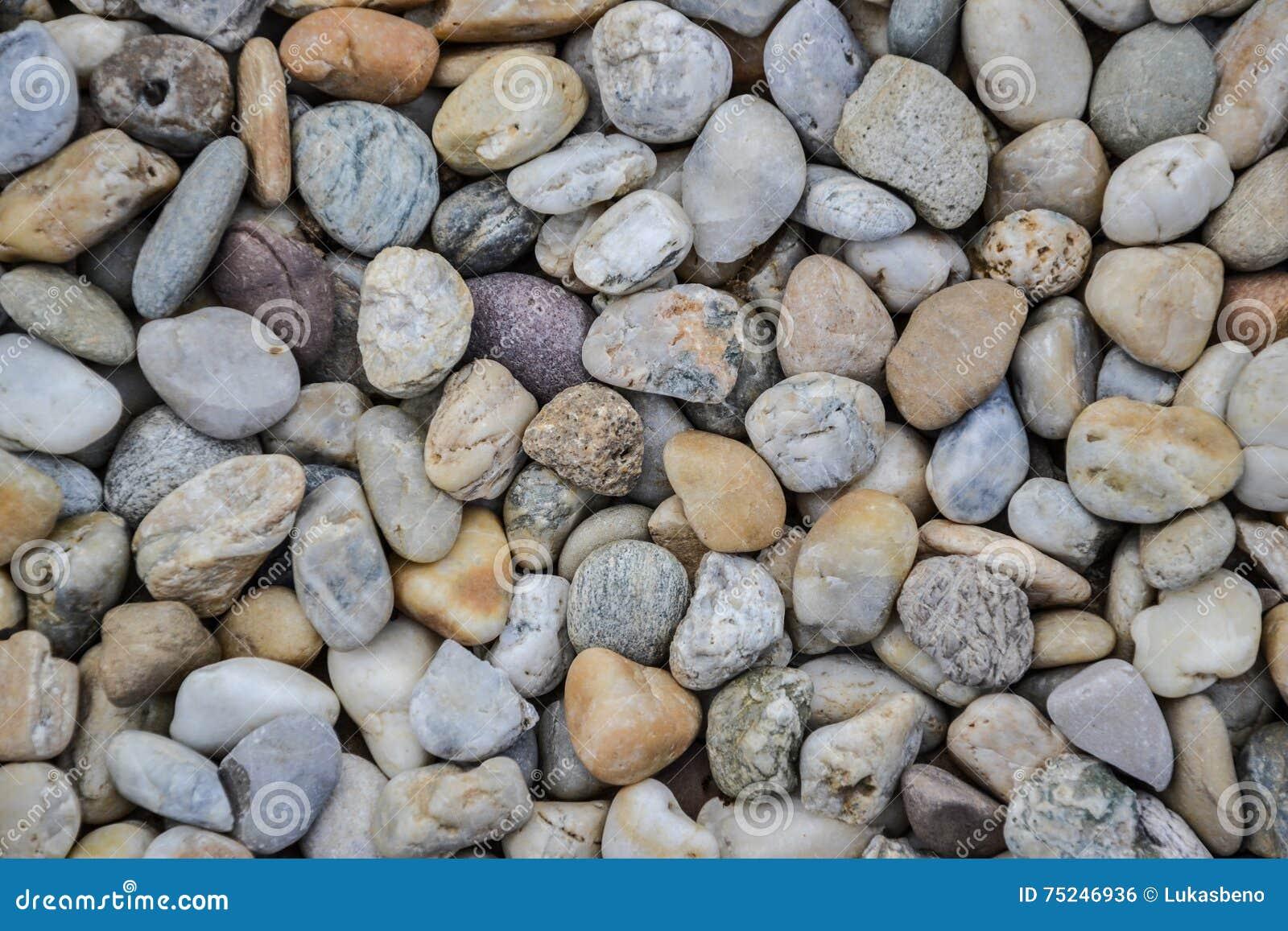 peque a textura de la grava de las piedras naturalmente