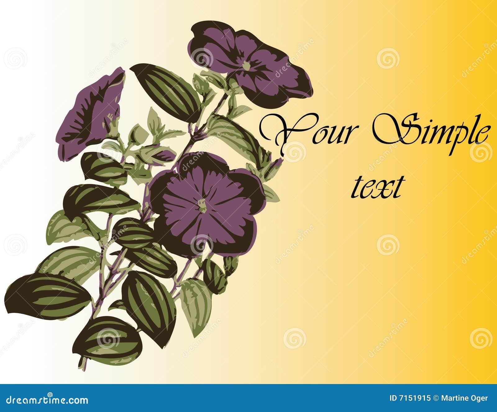 Download Pequeñas flores violetas. ilustración del vector. Ilustración de cubo - 7151915
