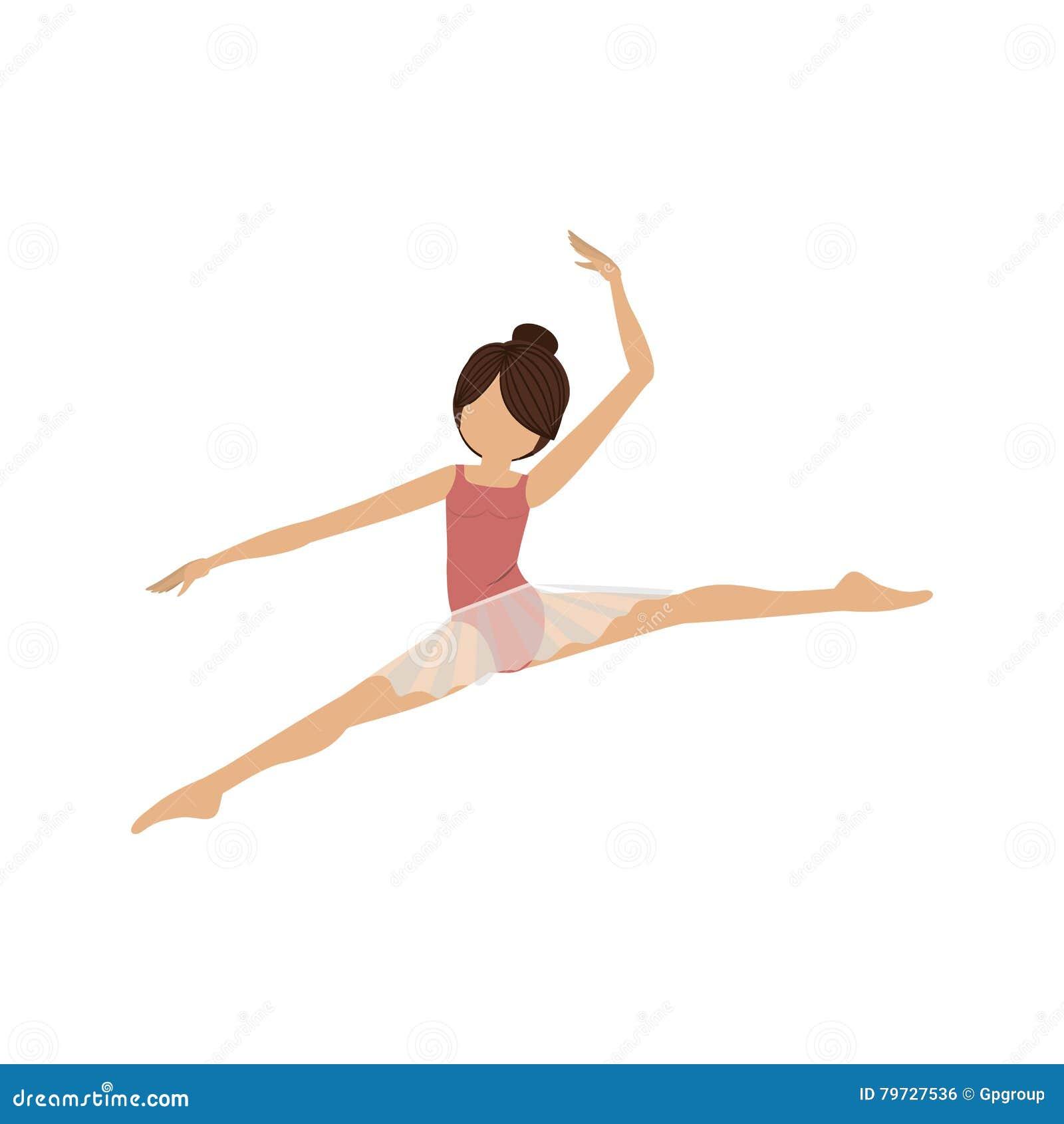Pequeñas lanzas de la actitud colorida del bailarín
