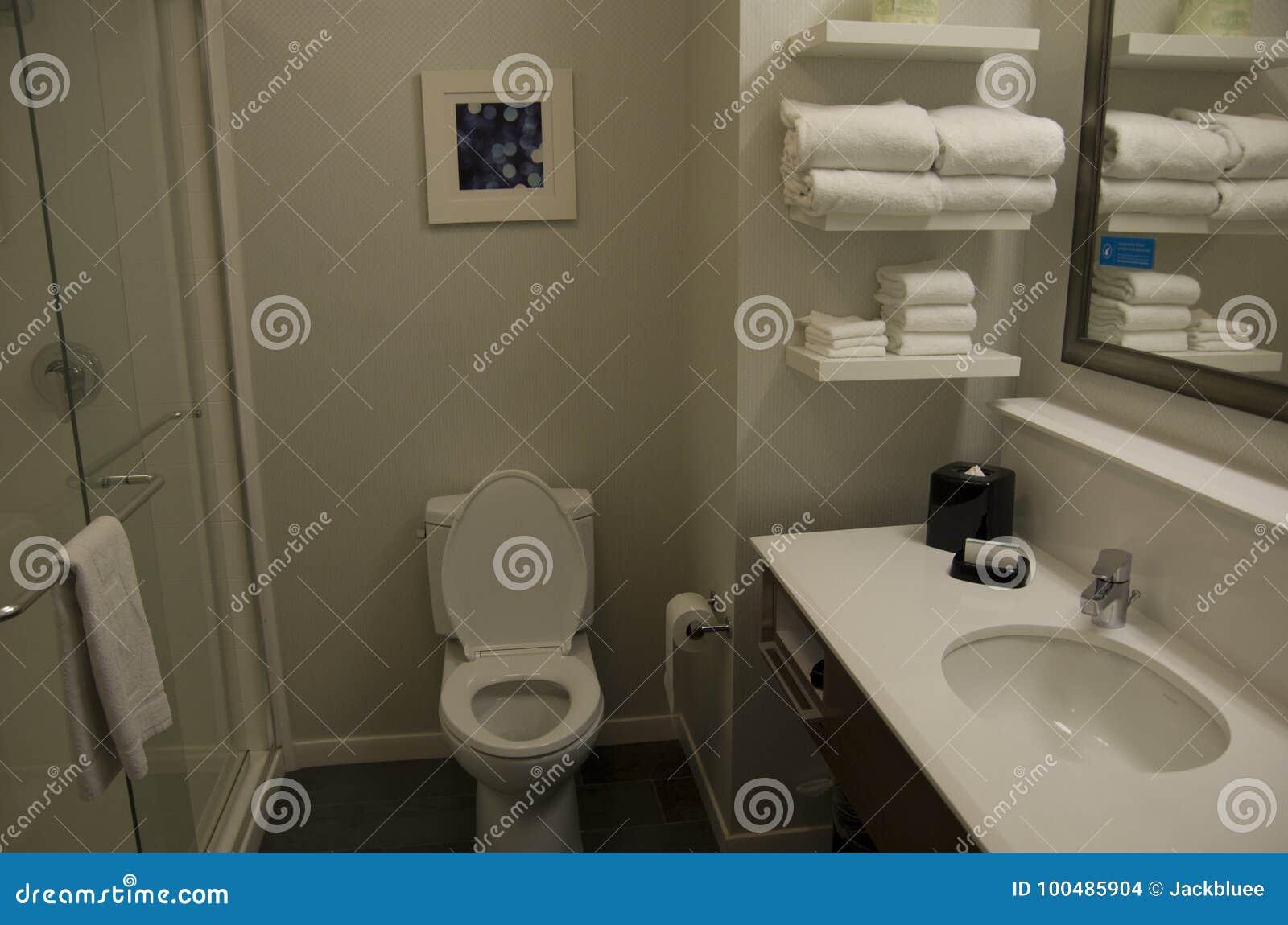 Pequeño Diseño Aseado Del Cuarto De Baño Del Hotel Foto de ...