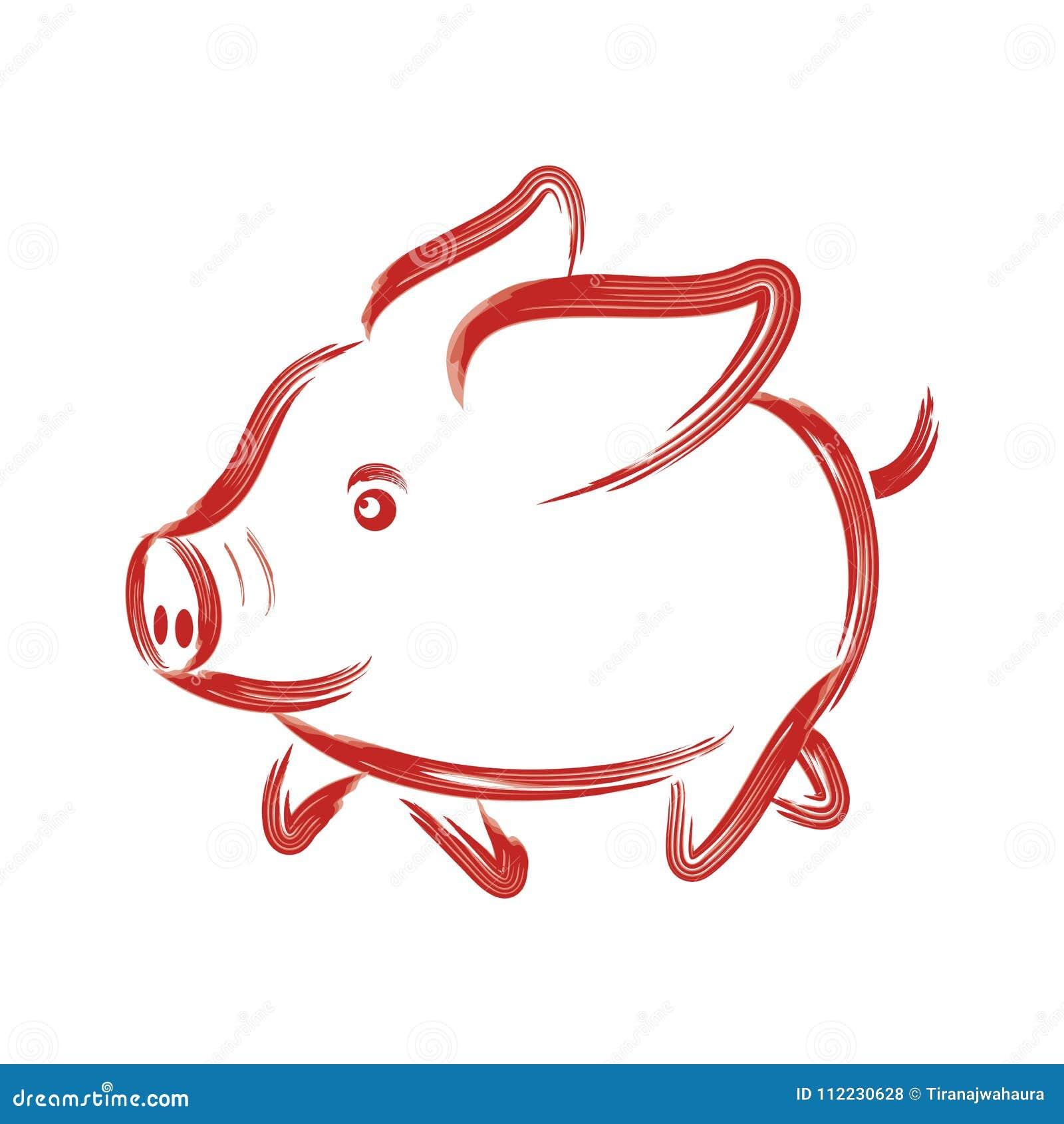 Pequeño ejemplo precioso del cerdo