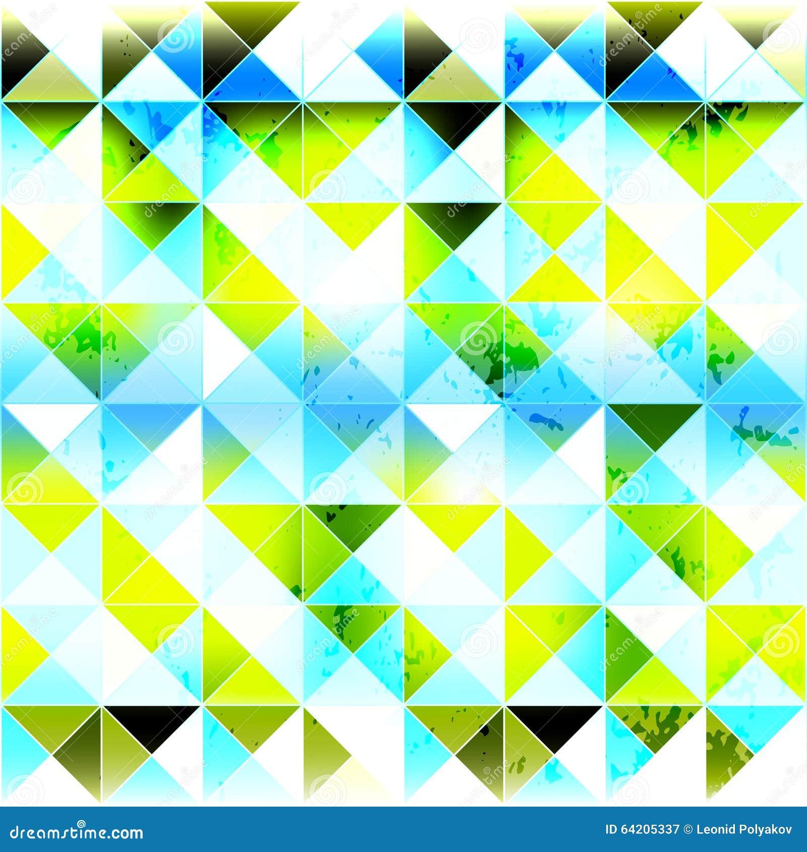 Pequeño fondo geométrico inconsútil coloreado brillante de los polígonos