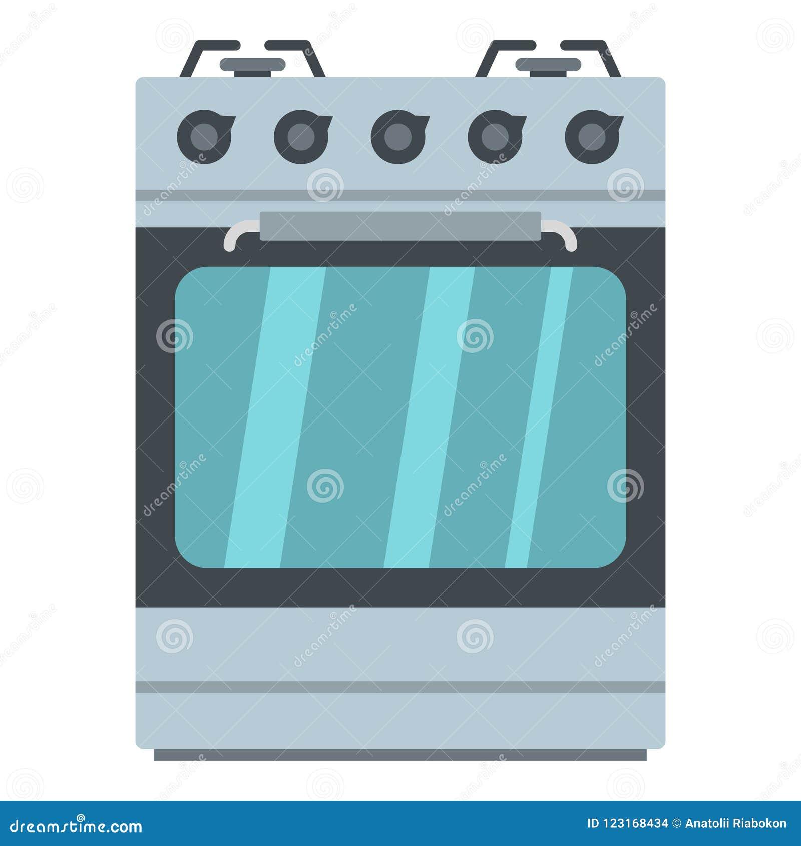 Pequeño icono del horno de gas, estilo de la historieta
