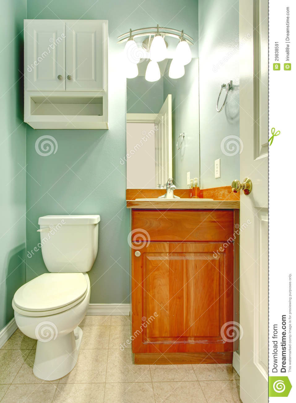 Gabinetes De Baño Pr:Mint Green Color Bathroom