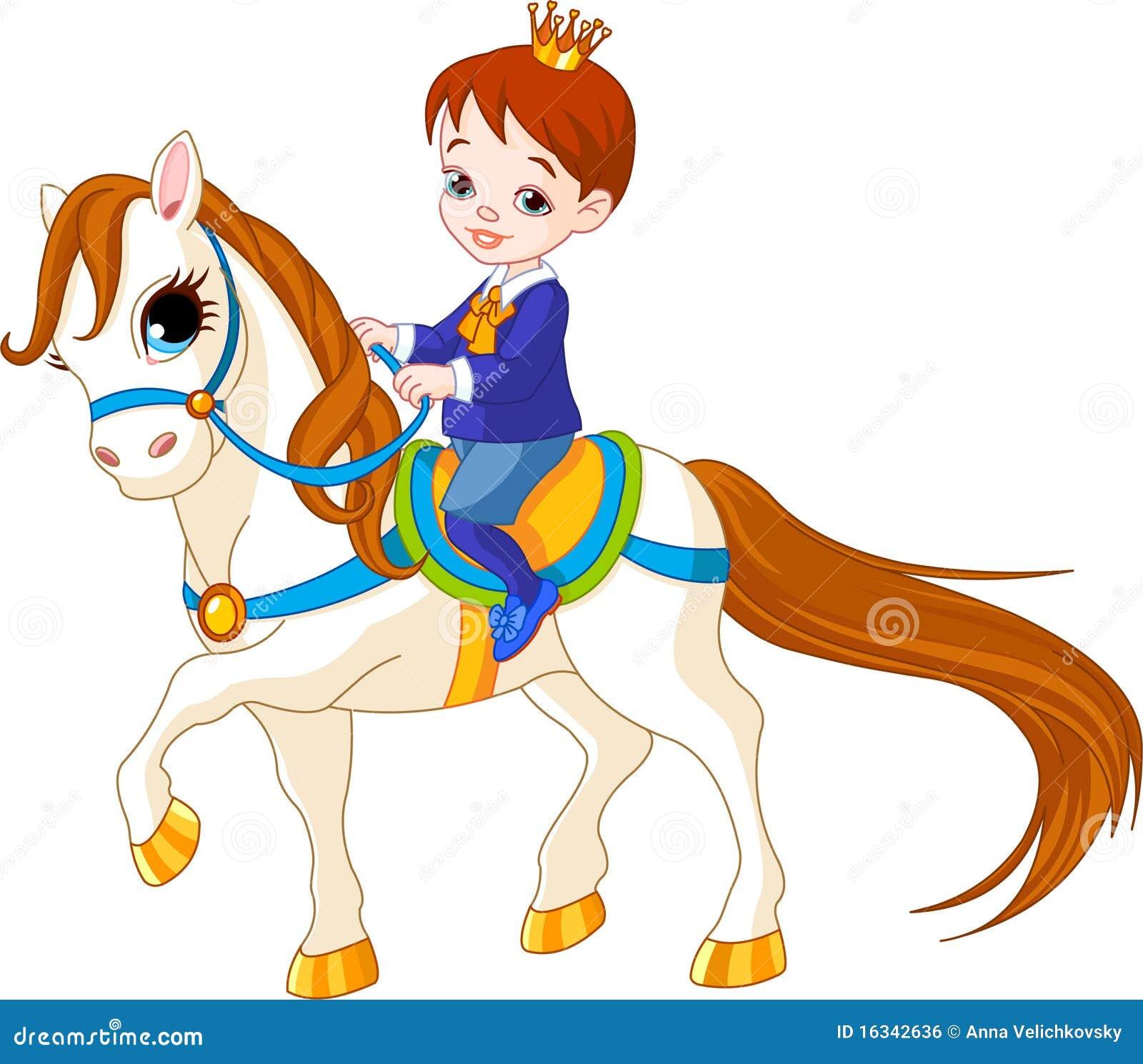 Príncipe y caballo ilustración del vector. Ilustración de perfil ...